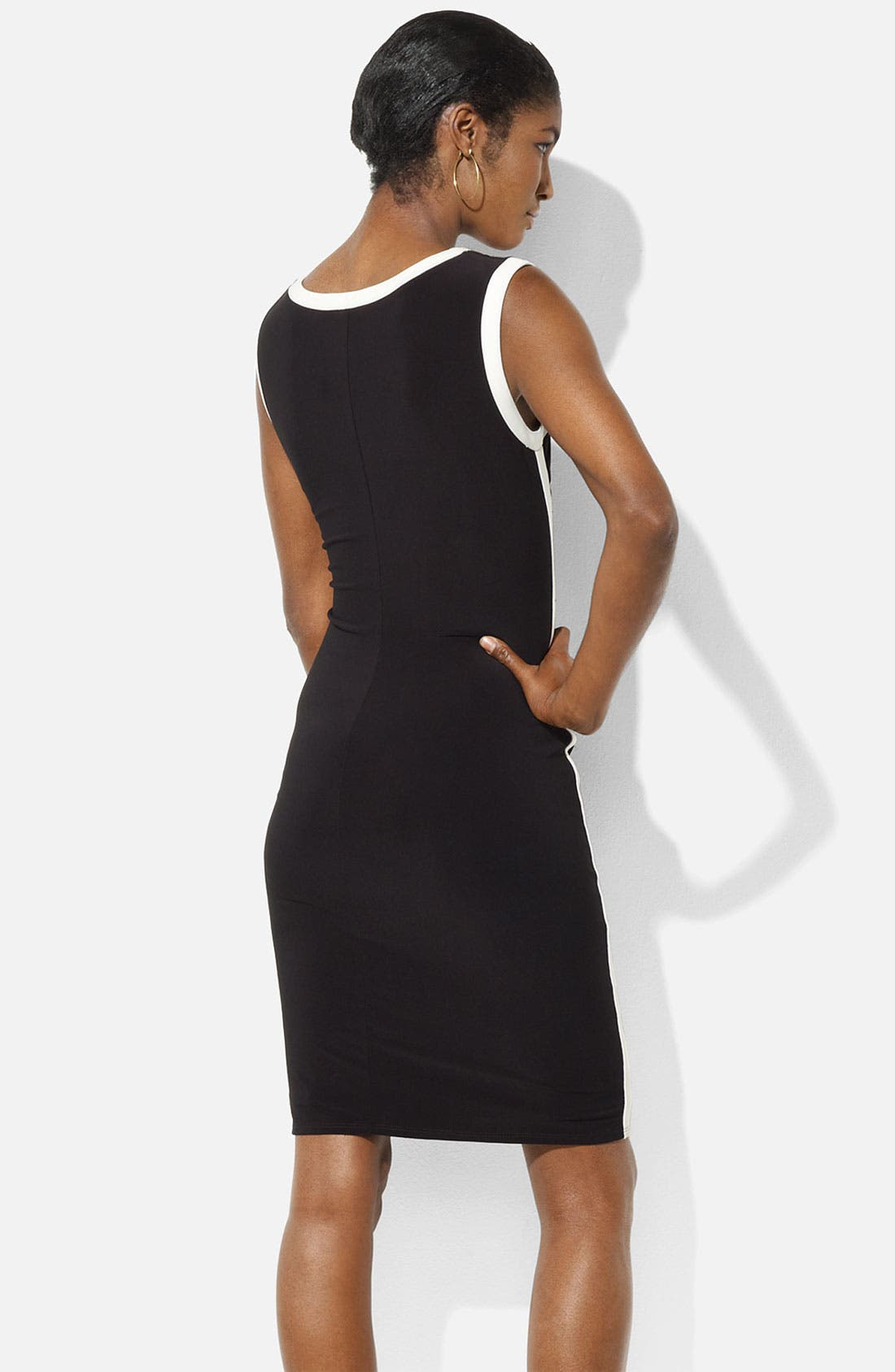 Alternate Image 2  - Lauren Ralph Lauren 'Eras' Jersey Sheath Dress (Petite)