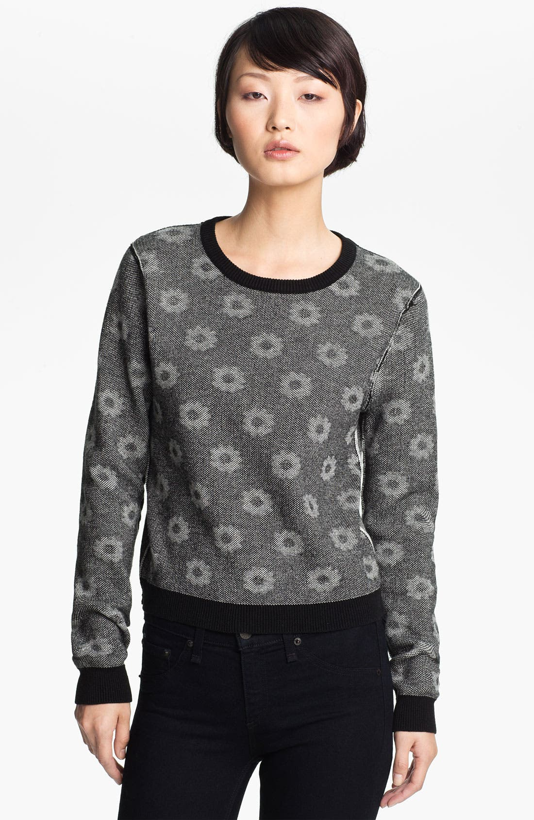 Alternate Image 3  - Opening Ceremony Reversible Floral Jacquard Sweater