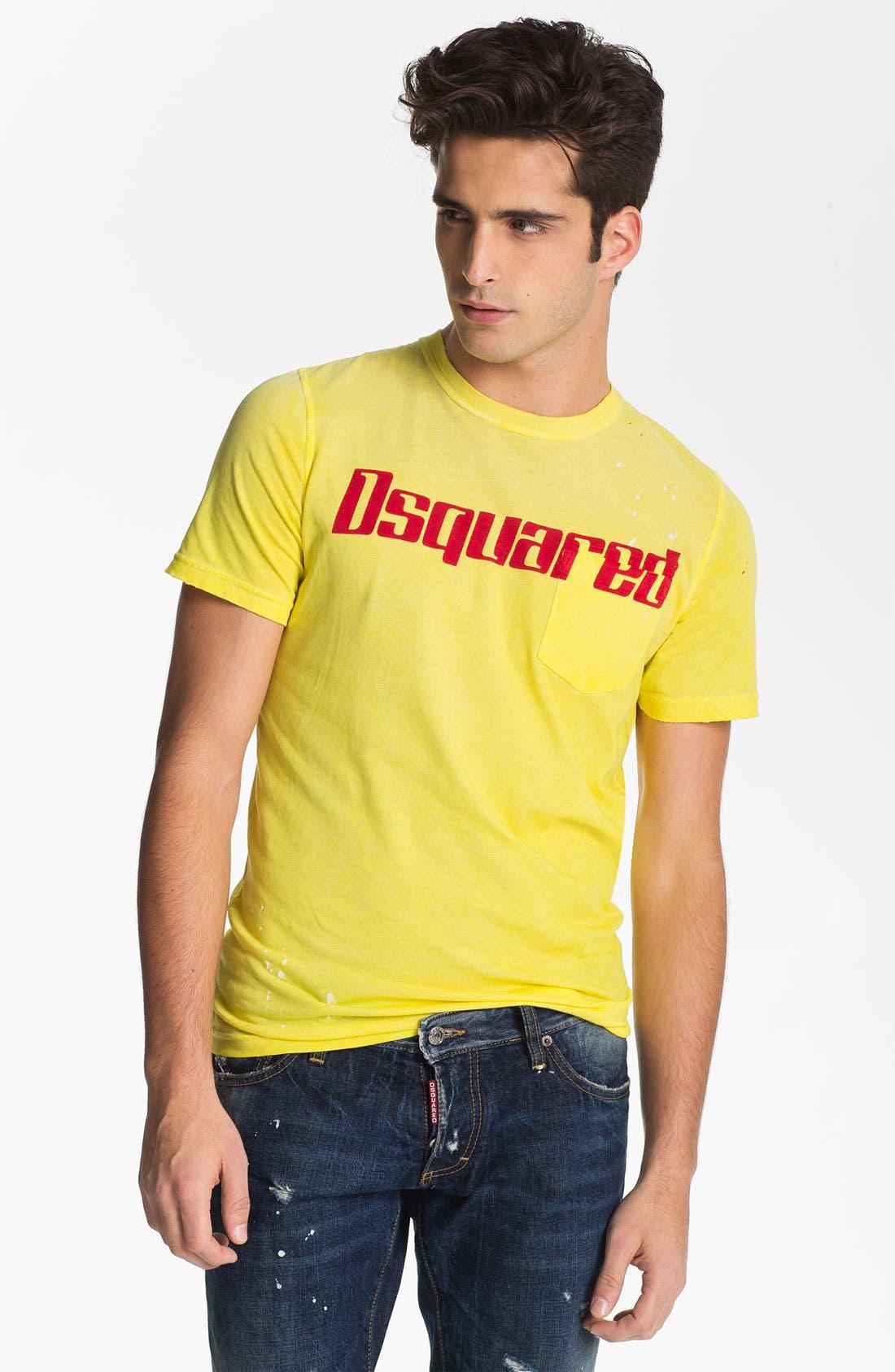 Alternate Image 1 Selected - Dsquared2 Logo Print Pocket T-Shirt
