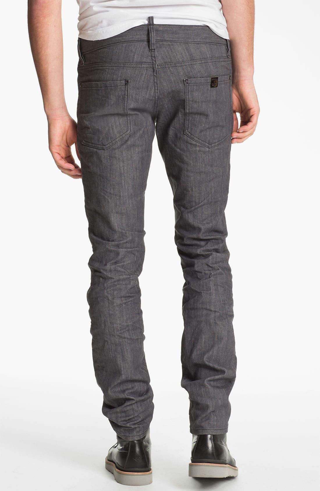 Alternate Image 2  - Dsquared2 Stretch Slim Fit Jeans (Grey)