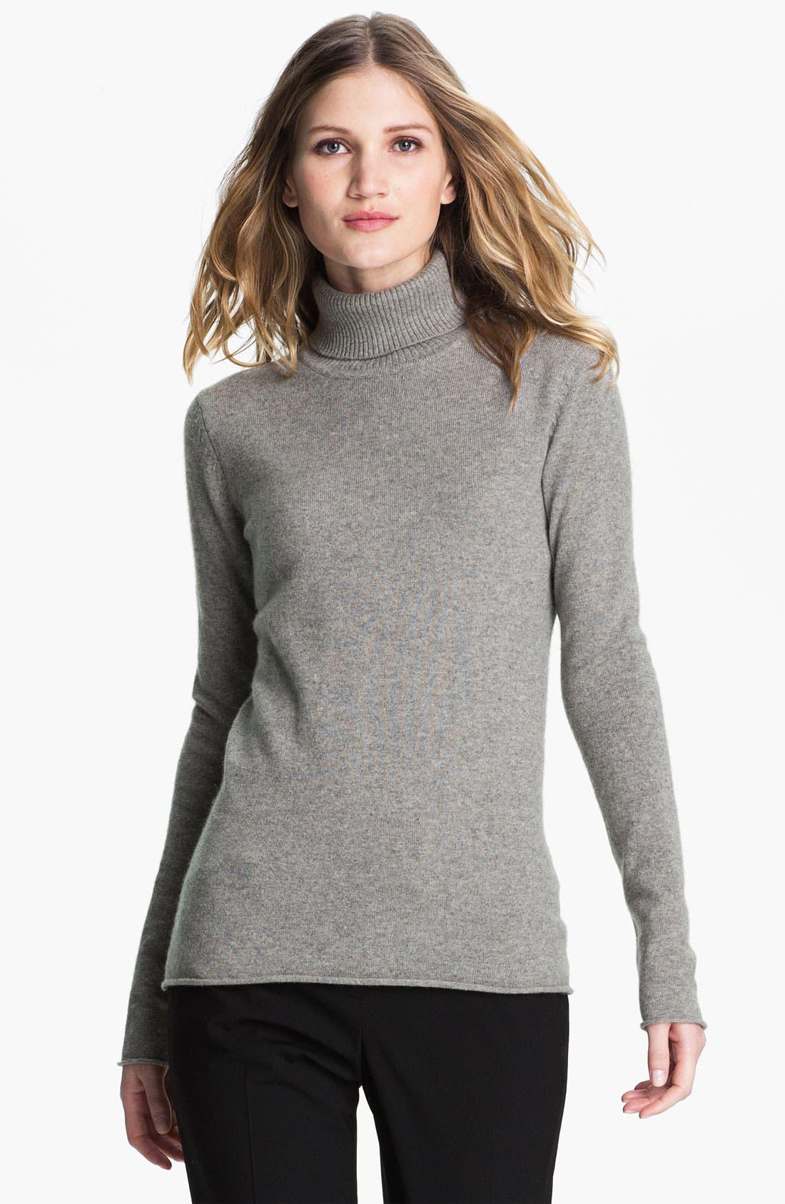 Alternate Image 1 Selected - Pure Amici Cashmere Turtleneck Sweater