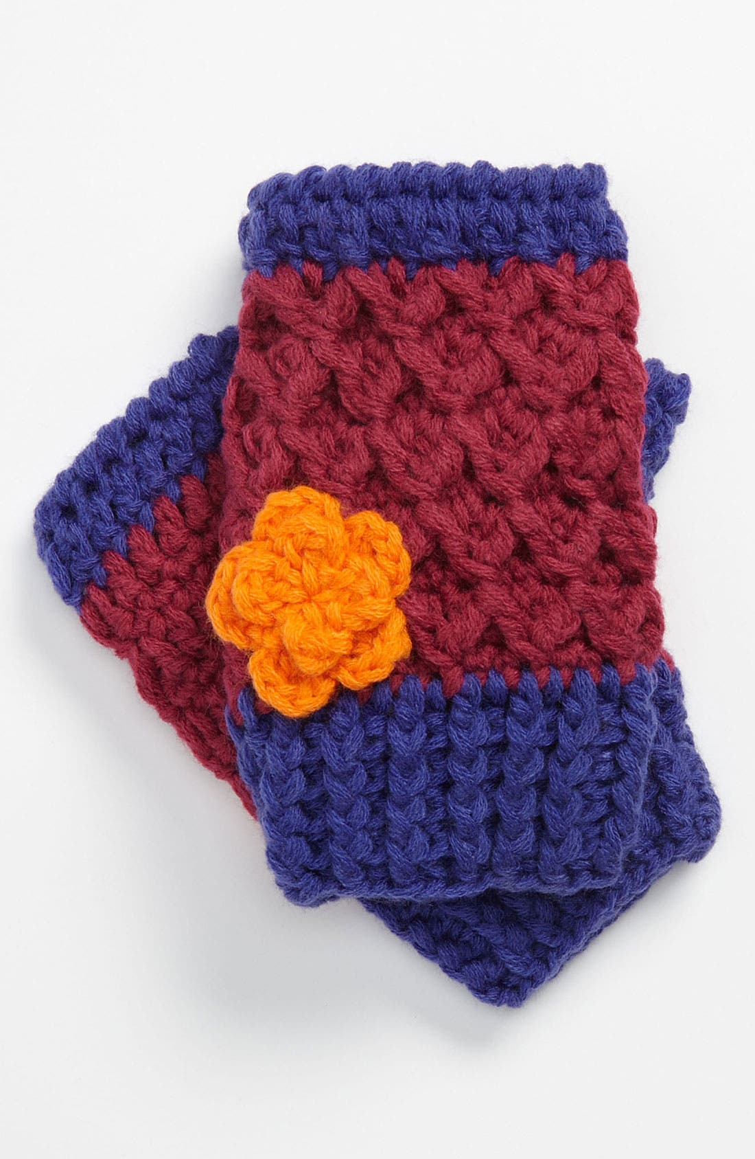 Alternate Image 1 Selected - The Accessory Collective Crochet Fingerless Mittens (Girls)