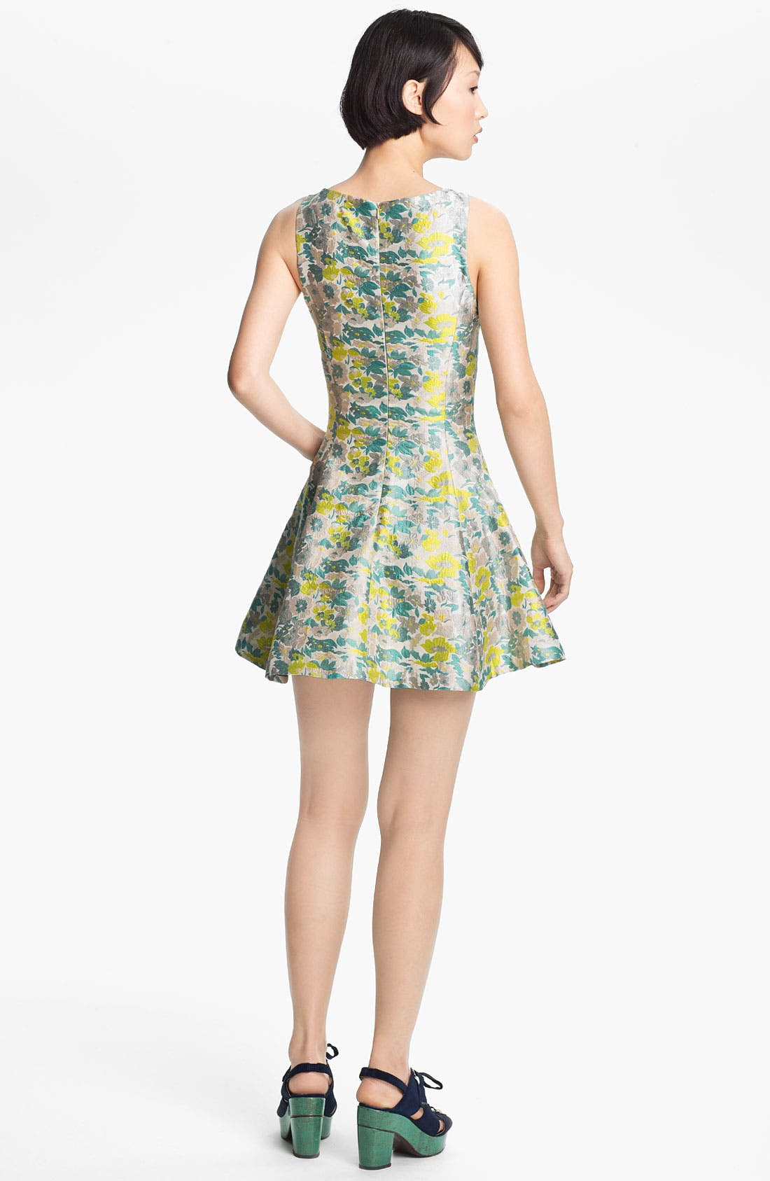 Alternate Image 2  - Opening Ceremony Floral Jacquard Dress