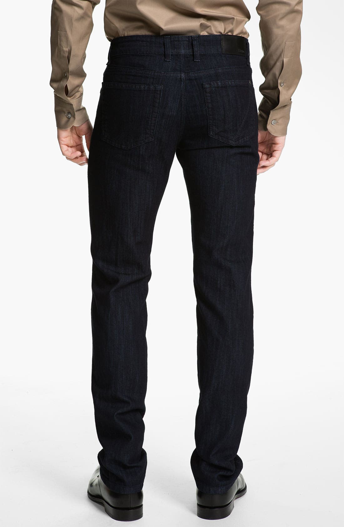 Alternate Image 2  - Z Zegna Straight Leg Jeans (Black)