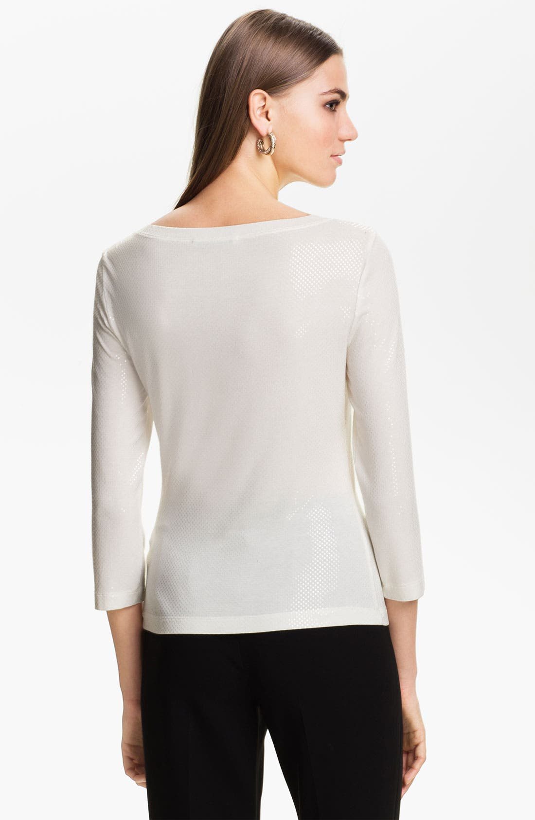 Main Image - St. John Collection Sequin Jersey Top
