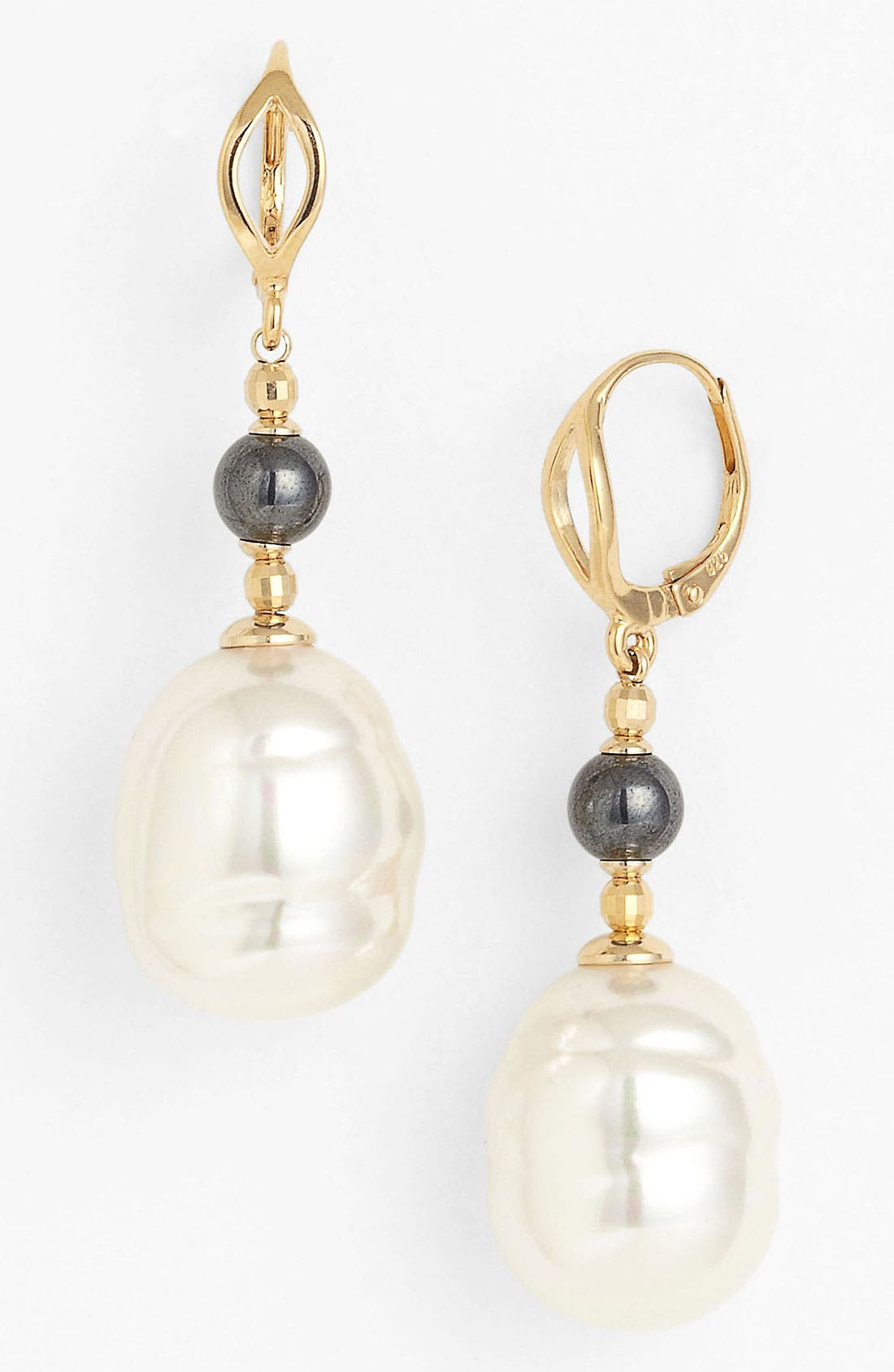 Main Image - Majorica 16mm Baroque Pearl Drop Earrings