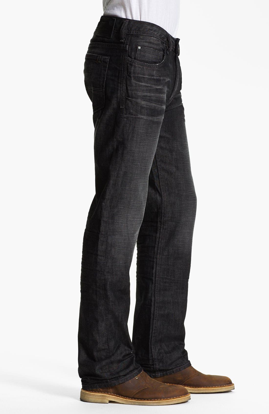 Alternate Image 3  - Buffalo Jeans 'Driven' Straight Leg Jeans (Dark/Washed)