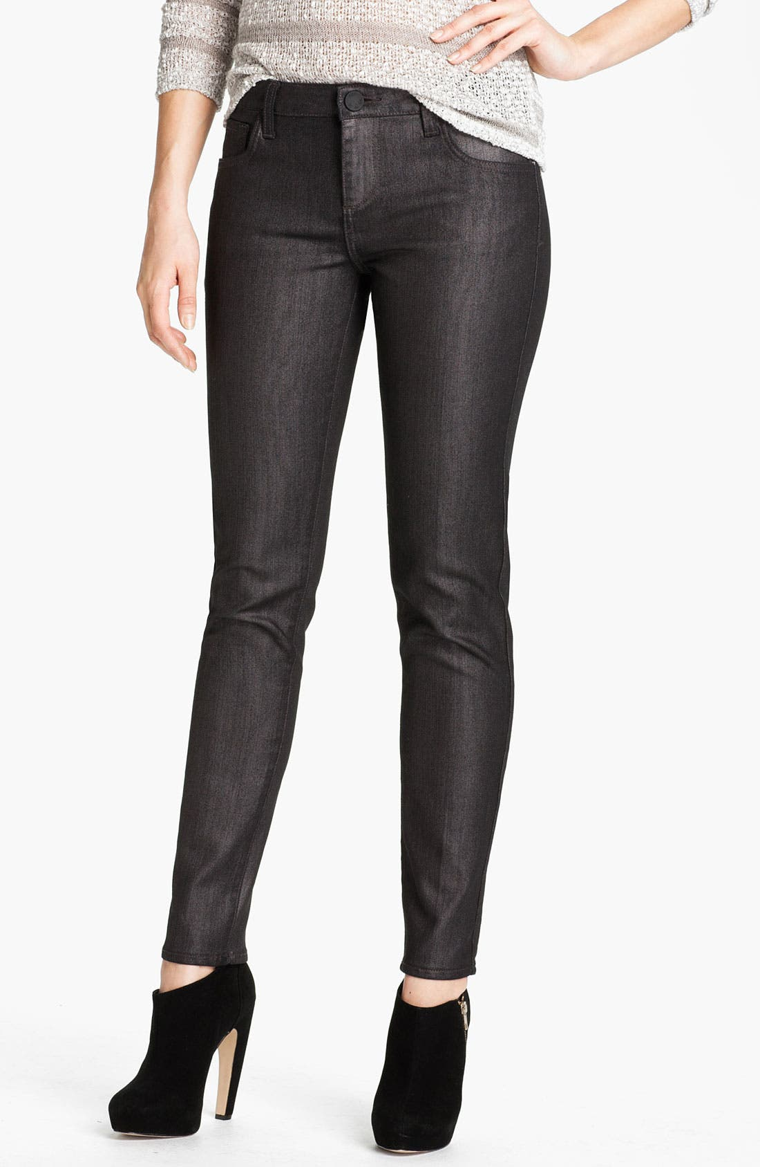 Alternate Image 1 Selected - KUT from the Kloth 'Jennifer' Skinny Stretch Jeans (Silver) (Online Exclusive)