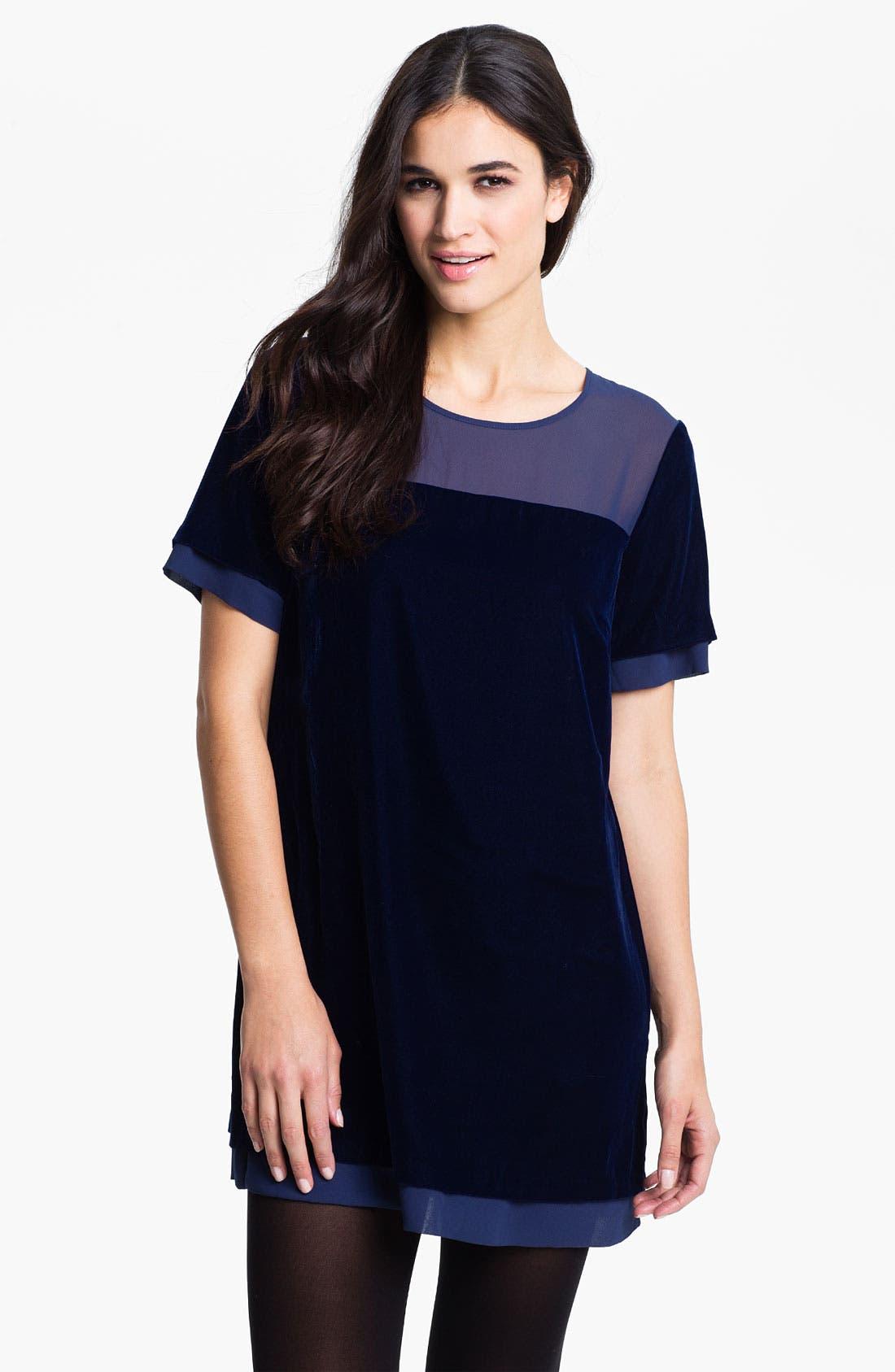 Crewneck Tunic Dress,                             Main thumbnail 1, color,                             Night Sky
