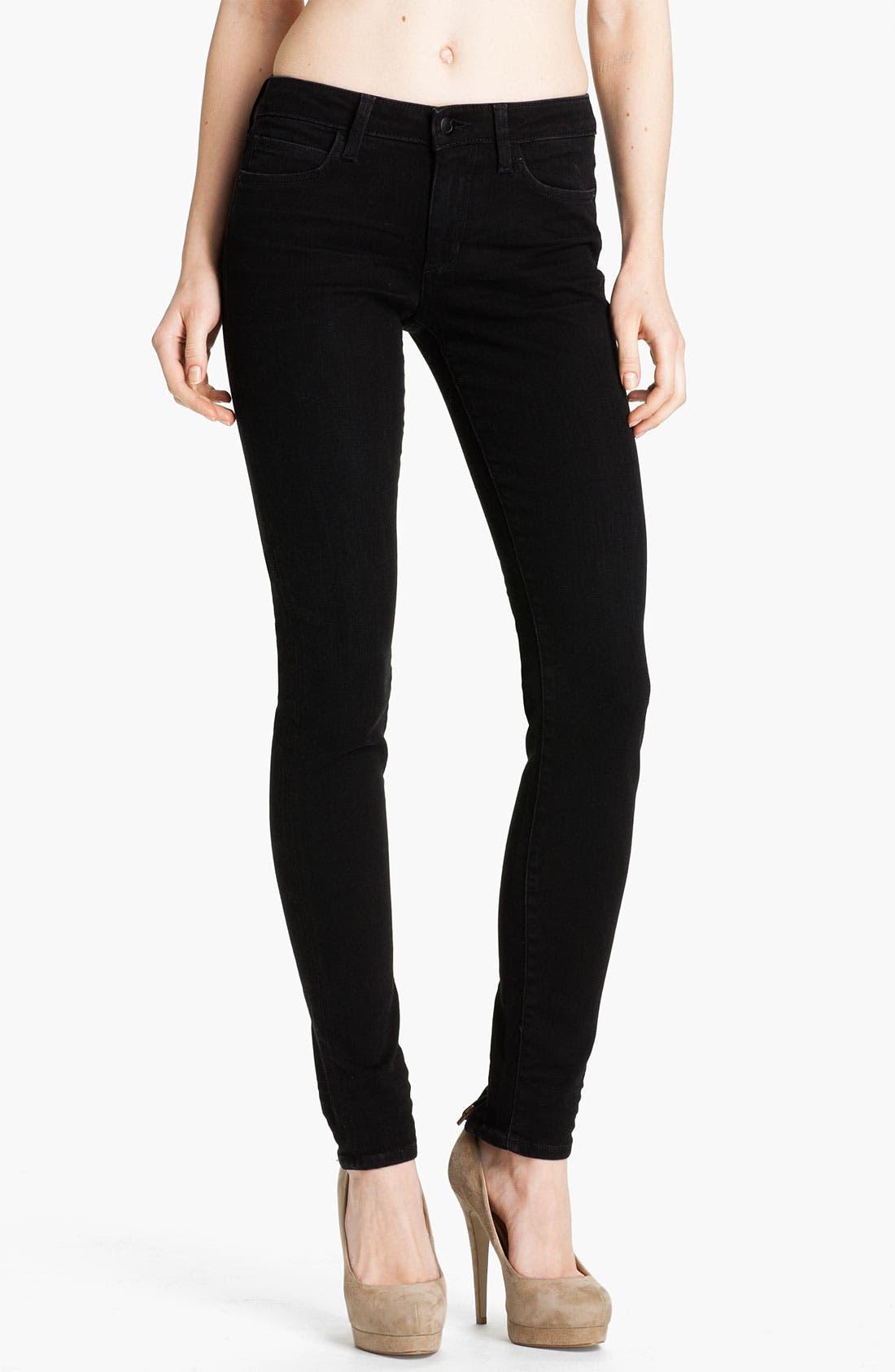 Ankle Zip Skinny Jeans,                             Main thumbnail 1, color,                             Norah Black