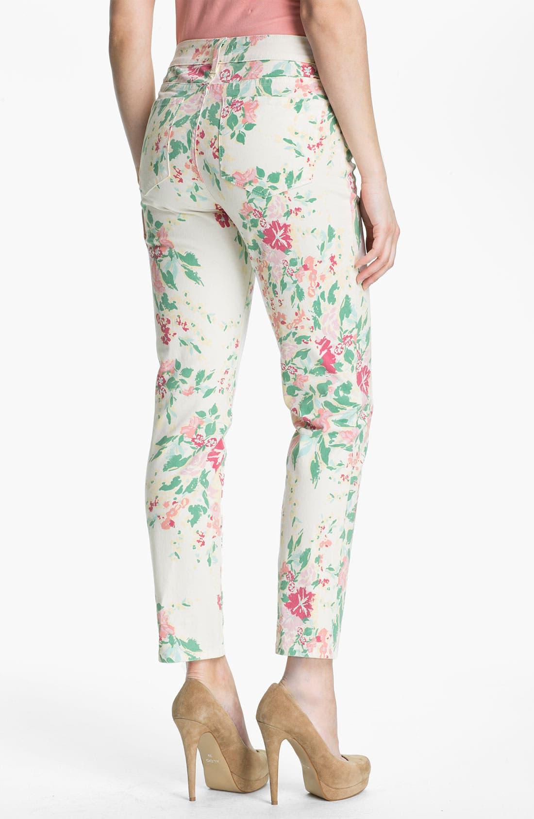Alternate Image 2  - NYDJ 'Alisha' Floral Print Skinny Stretch Ankle Jeans