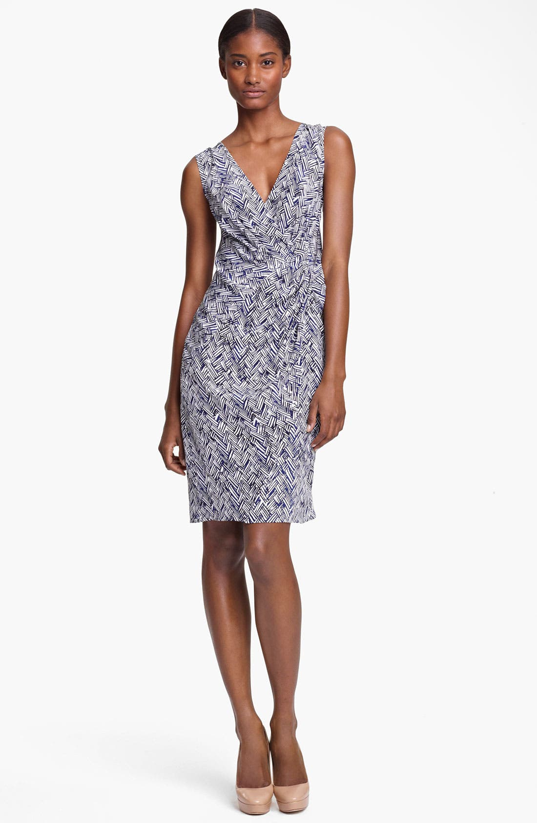 Alternate Image 1 Selected - Thakoon Basket Weave Print Silk Dress