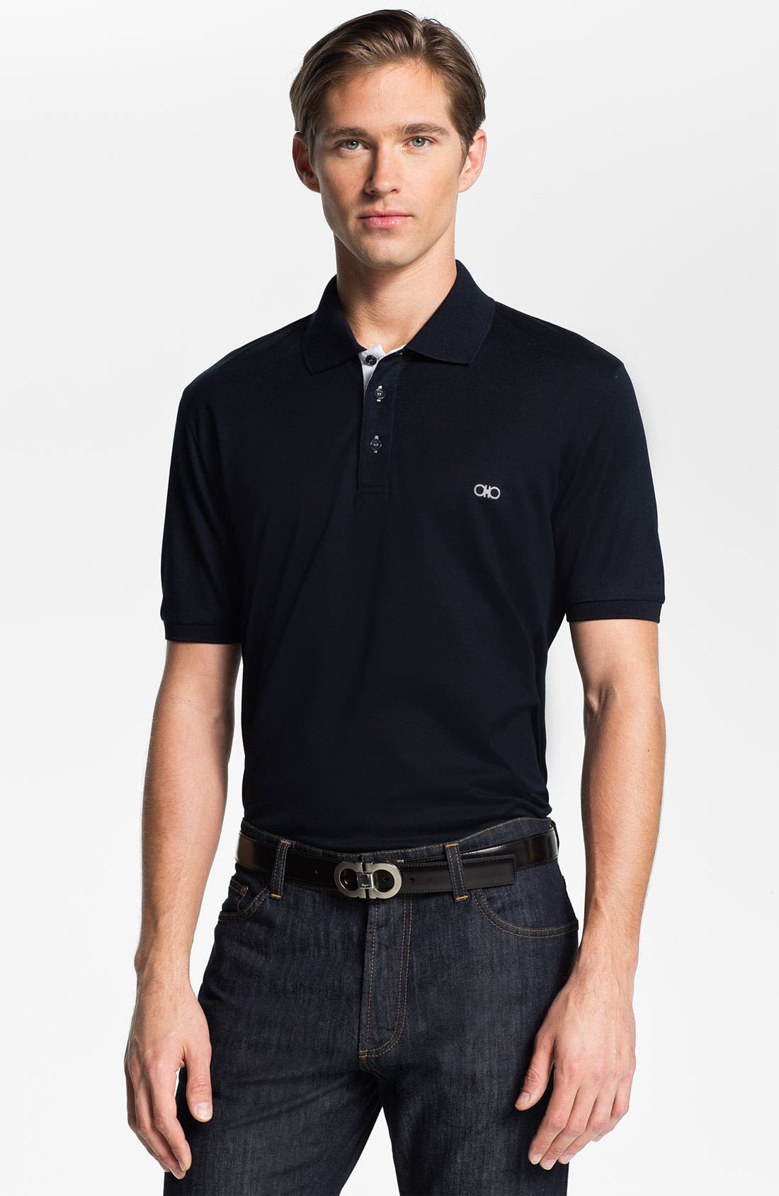 Main Image - Salvatore Ferragamo Trim Fit Polo