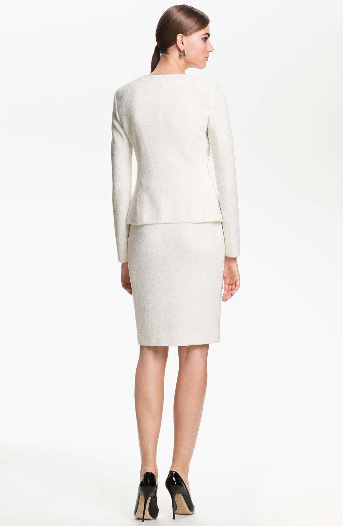 Alternate Image 4  - St. John Collection Cosmopolitan Tweed Pencil Skirt