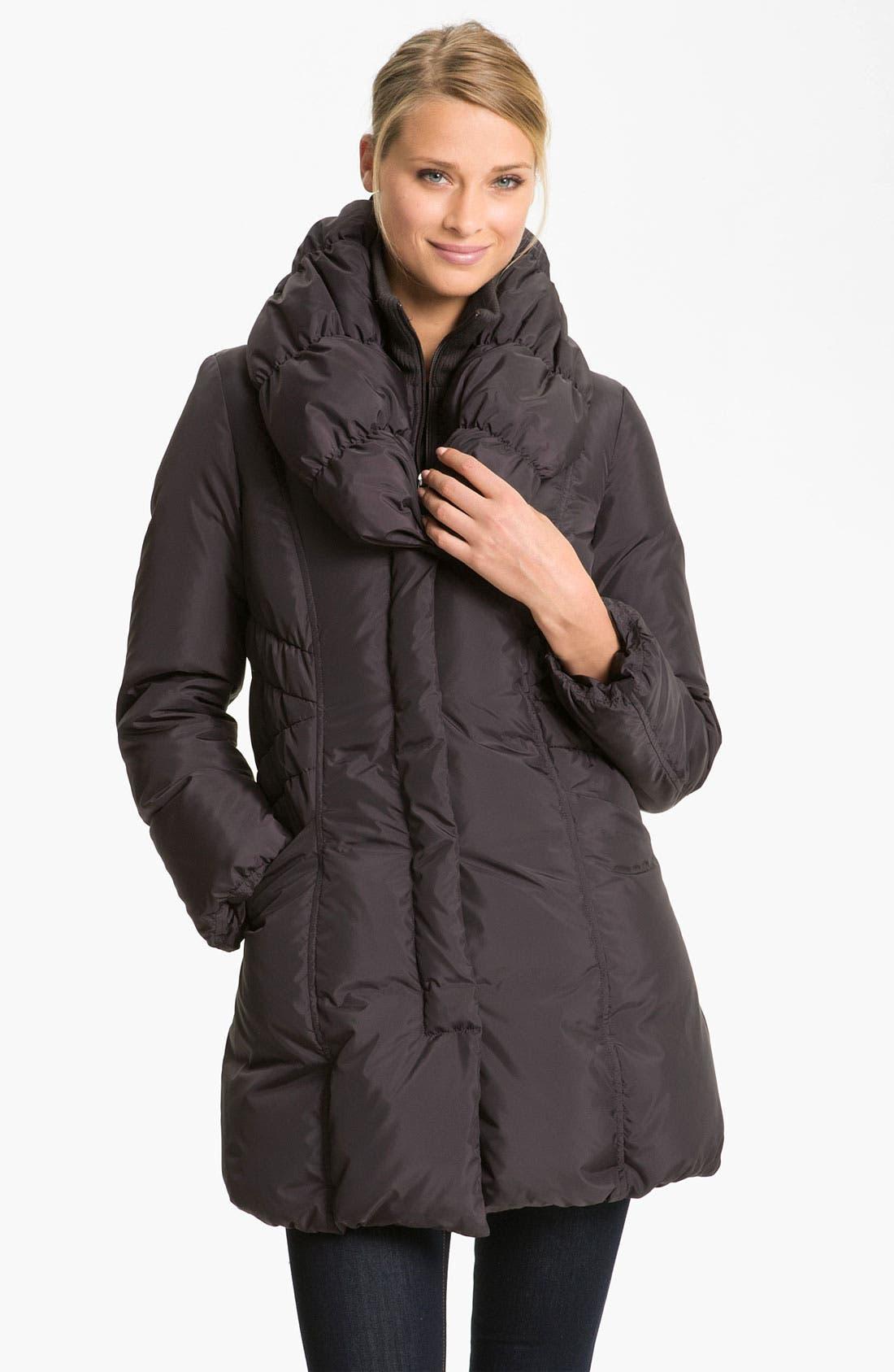 Main Image - Tahari 'Adelle' Pillow Collar Coat (Nordstrom Exclusive)