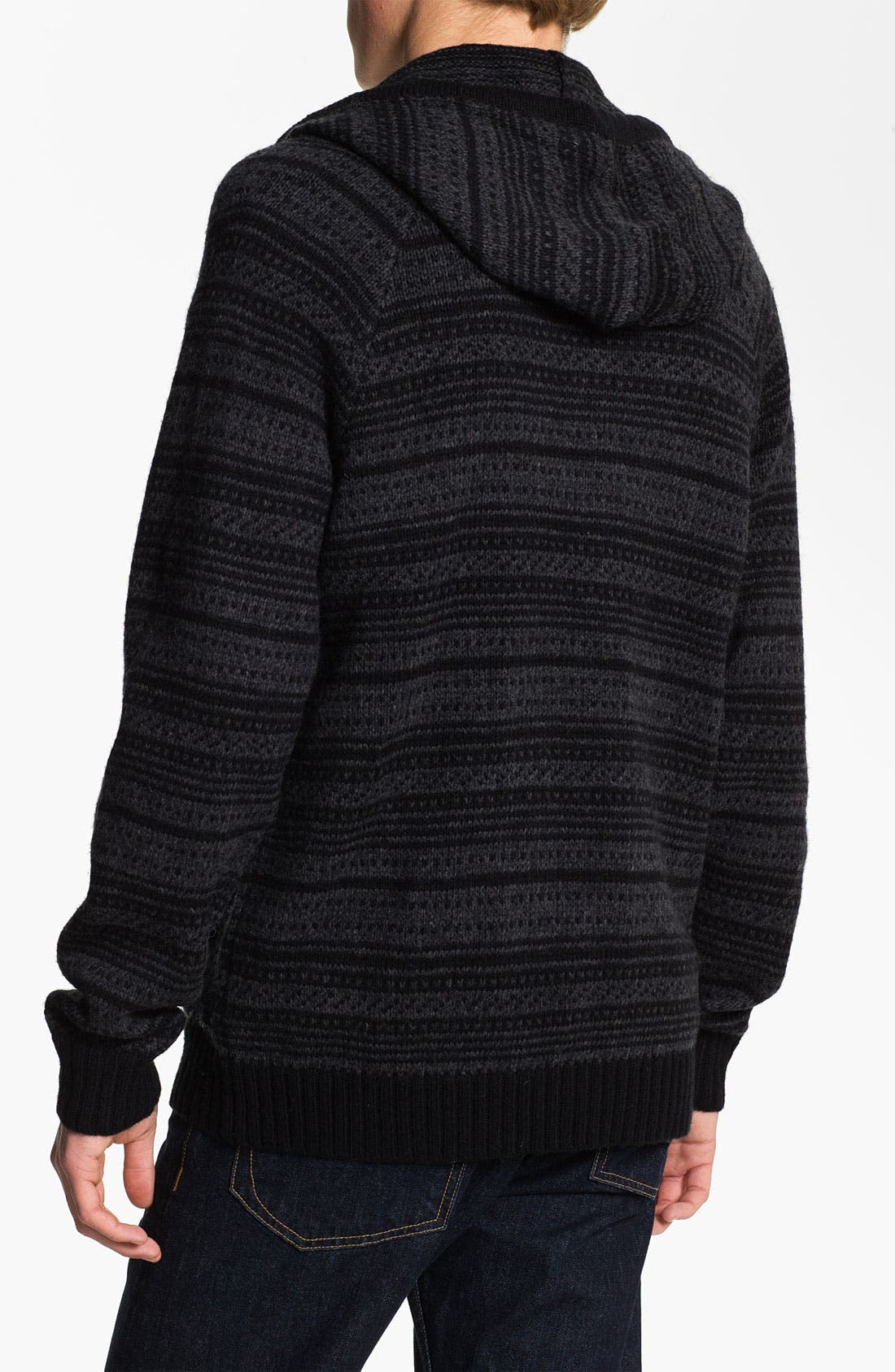 Alternate Image 2  - RVCA 'Scando' Jacquard Knit Hoodie