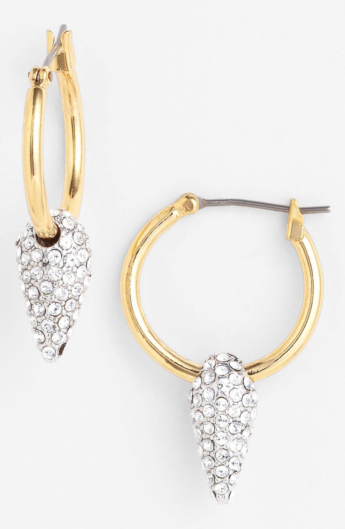 Main Image - Juicy Couture 'Heavy Metal' Hoop Drop Earrings