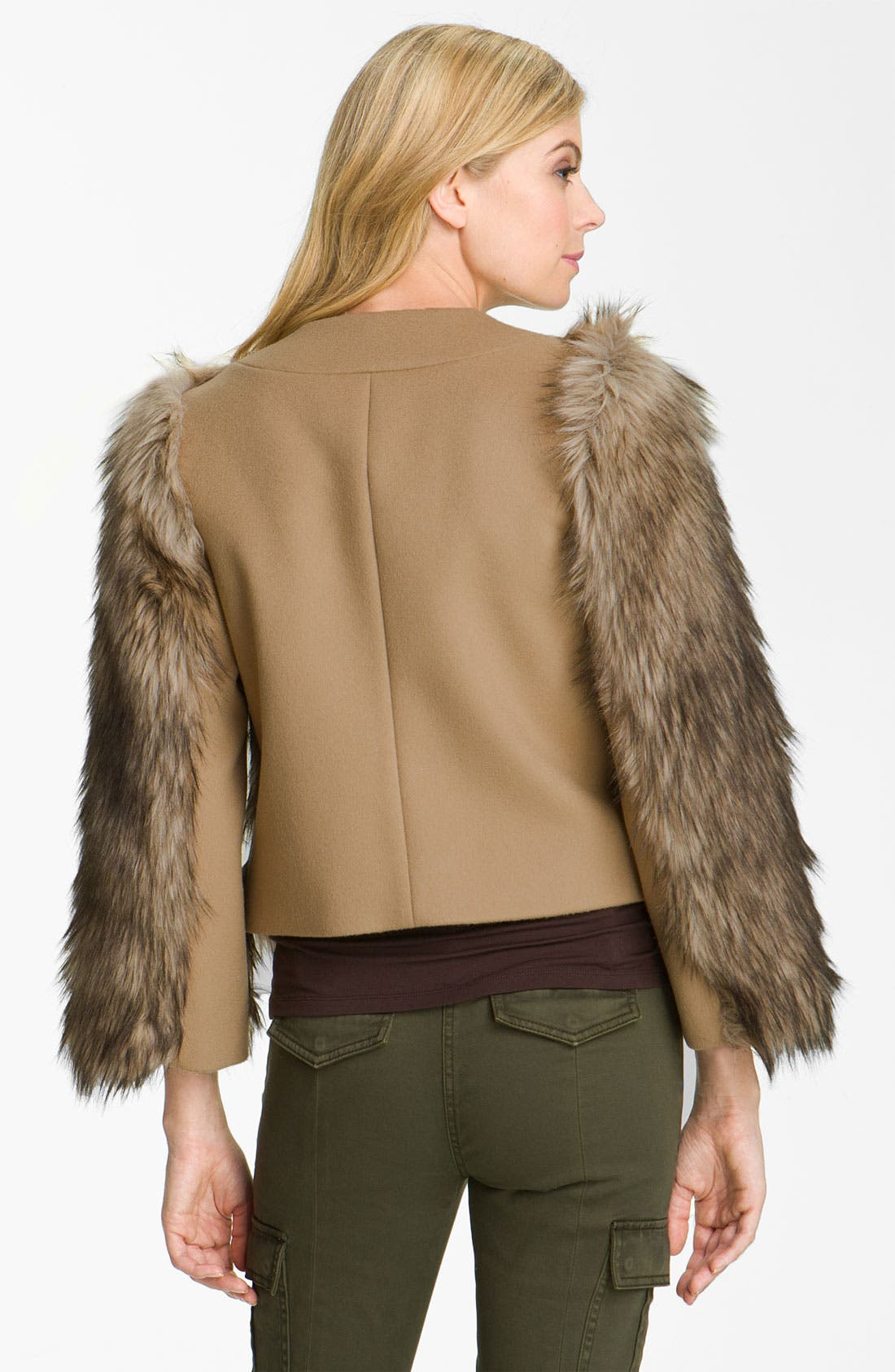Alternate Image 2  - MICHAEL Michael Kors Faux Coyote Fur Jacket
