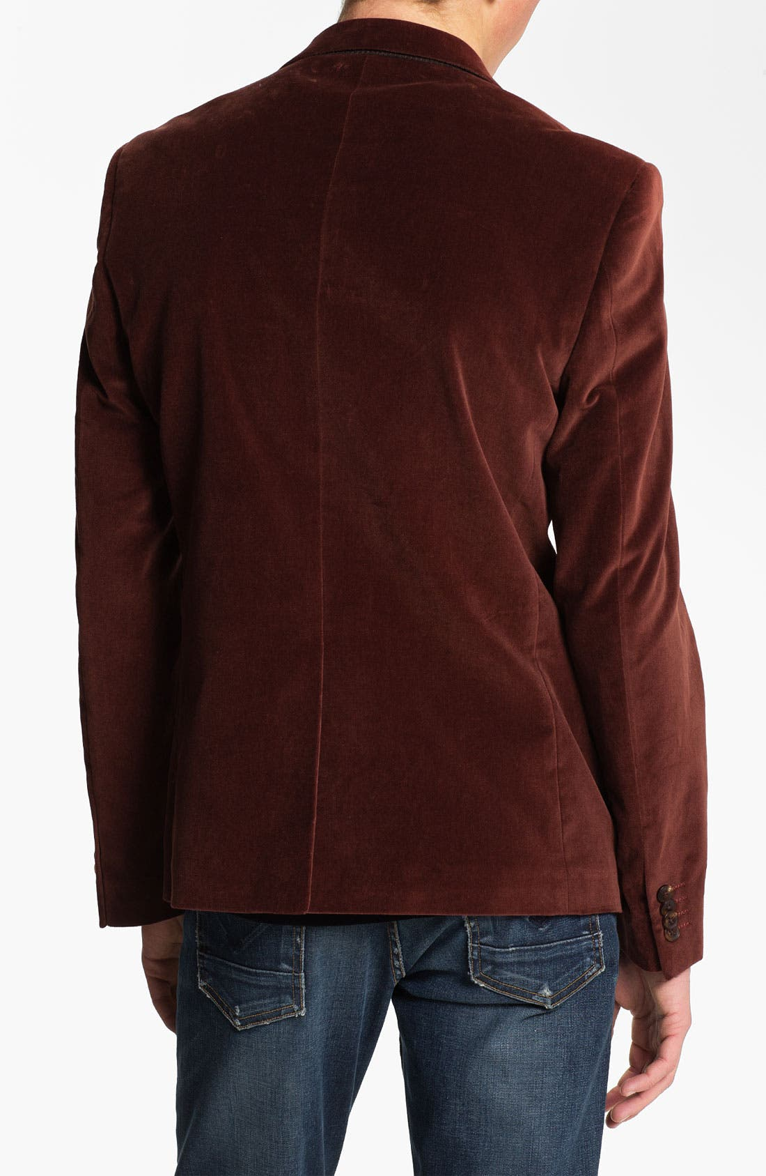 Alternate Image 2  - Scotch & Soda Trim Fit Velvet Blazer