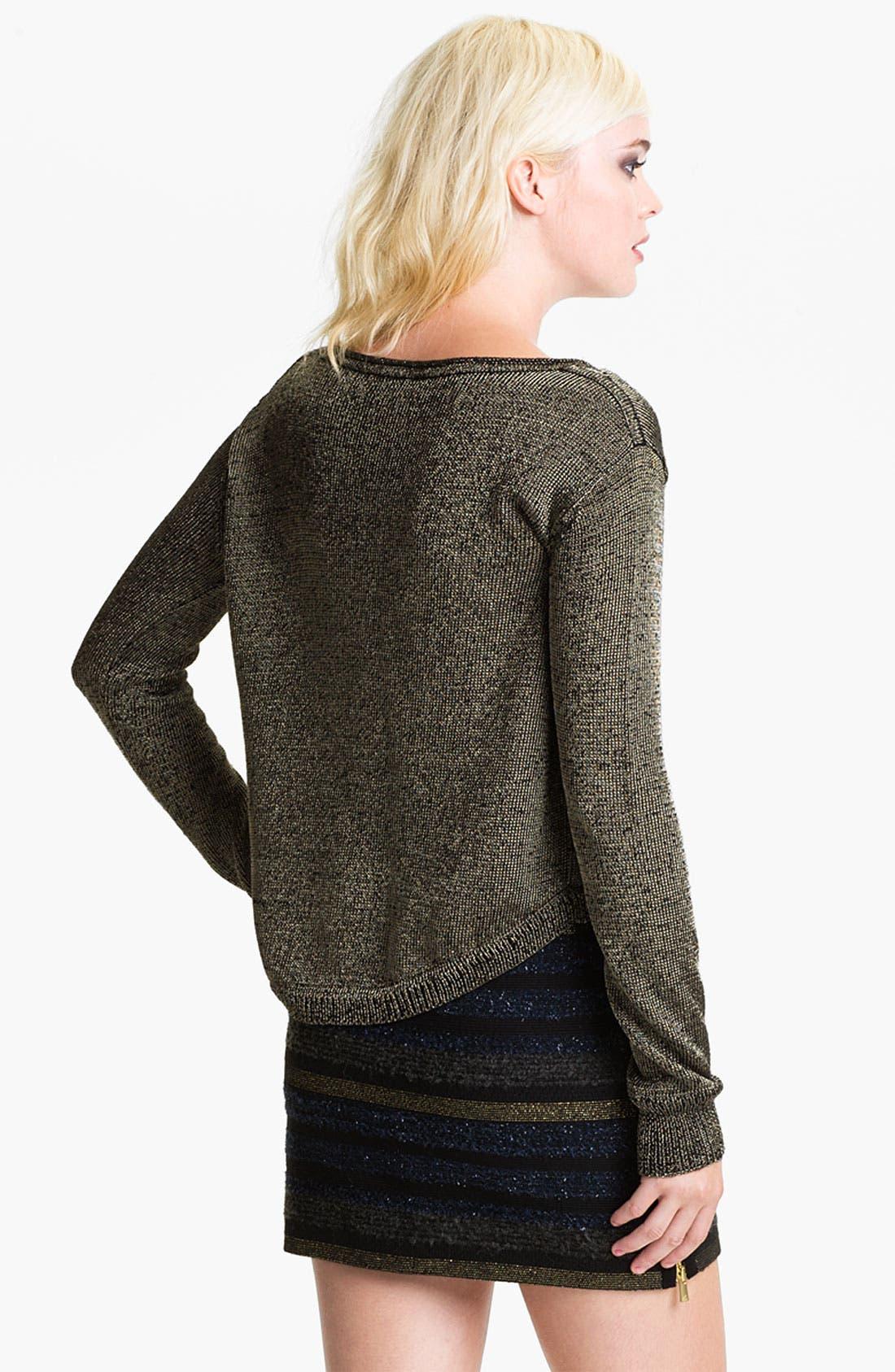 Alternate Image 2  - Rebecca Minkoff 'Ellen' Metallic Sweater