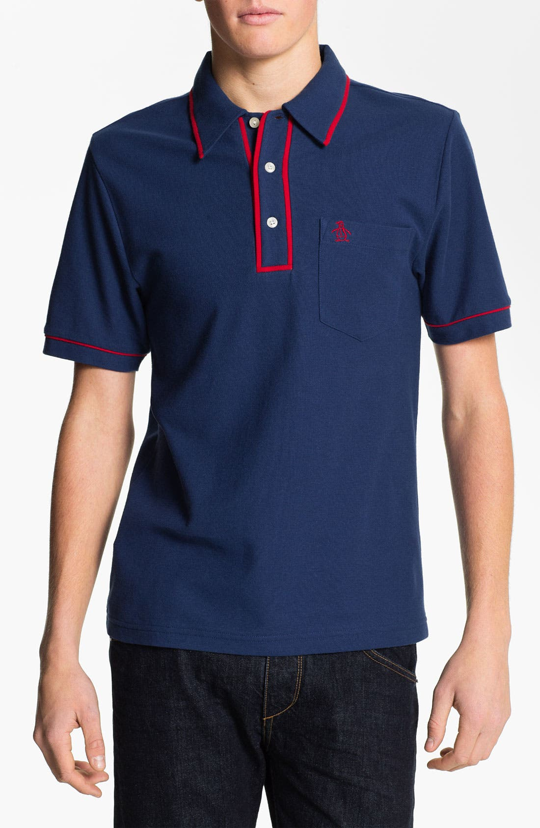 Main Image - Original Penguin 'The Earl' Slim Fit Piqué Polo