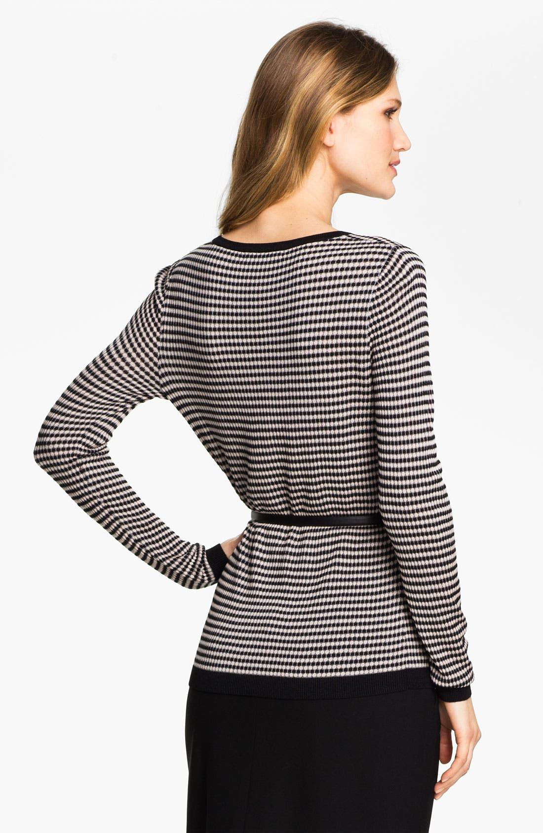 Alternate Image 2  - Classiques Entier® 'Tessa' Belted Jacquard Sweater
