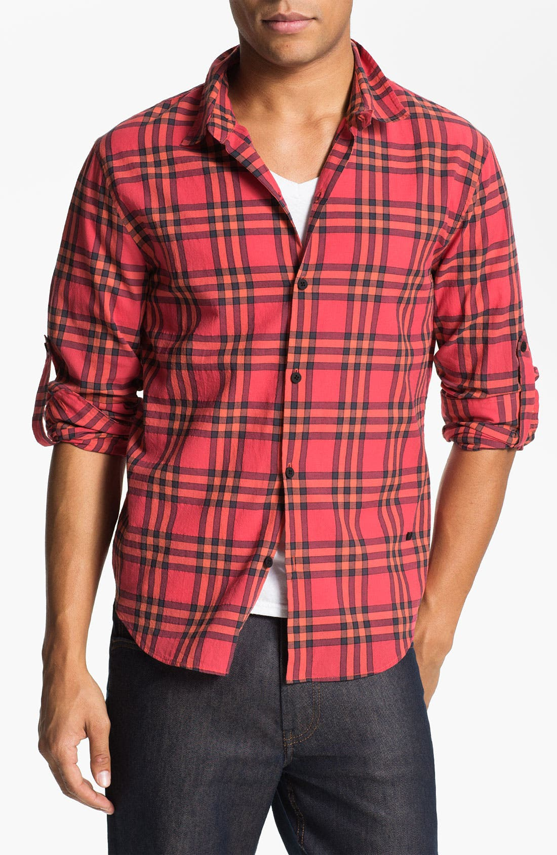 Main Image - MARC BY MARC JACOBS 'Nico' Plaid Woven Shirt