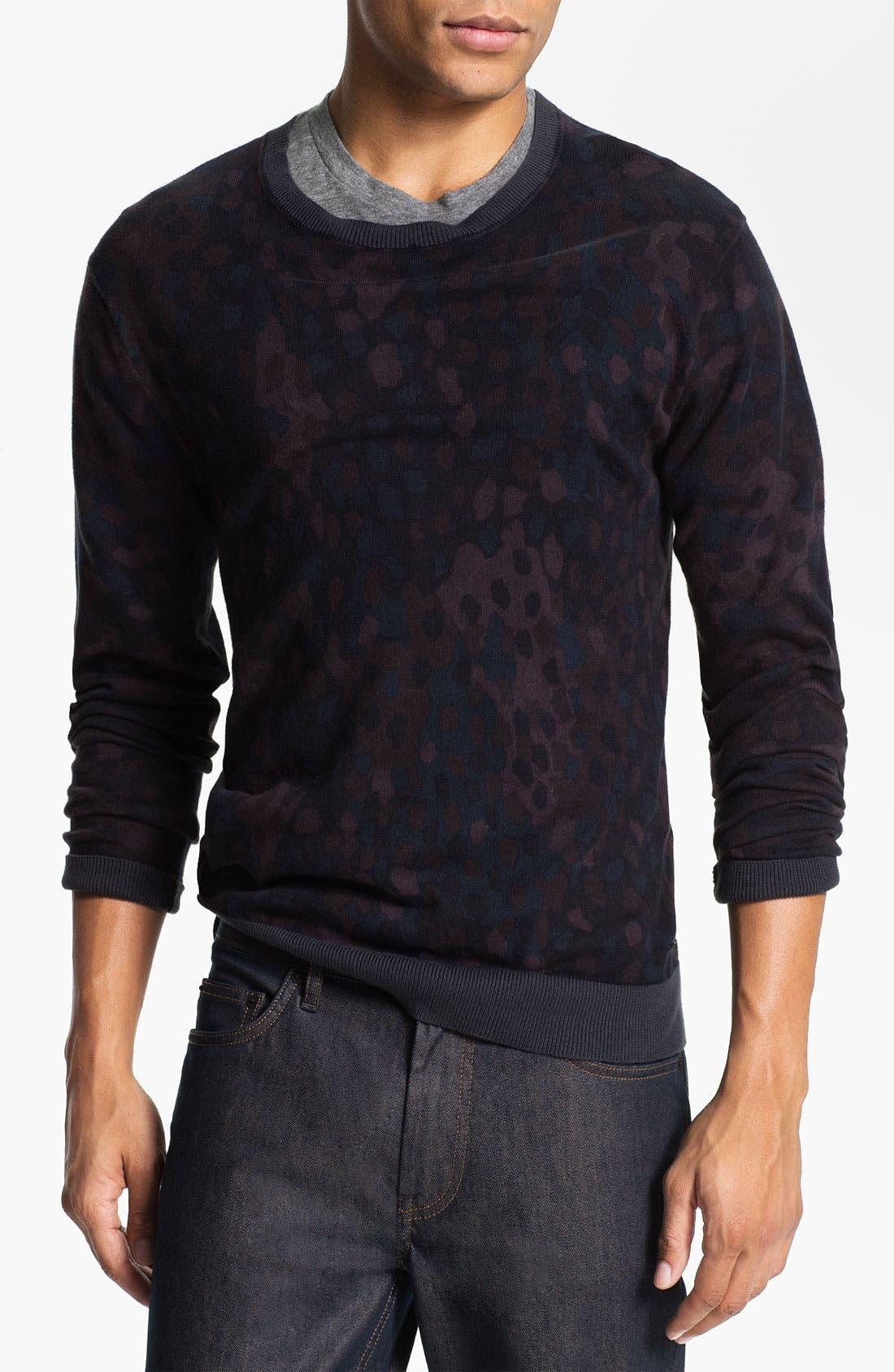 Alternate Image 1 Selected - MARC BY MARC JACOBS Camouflage Crewneck Sweater