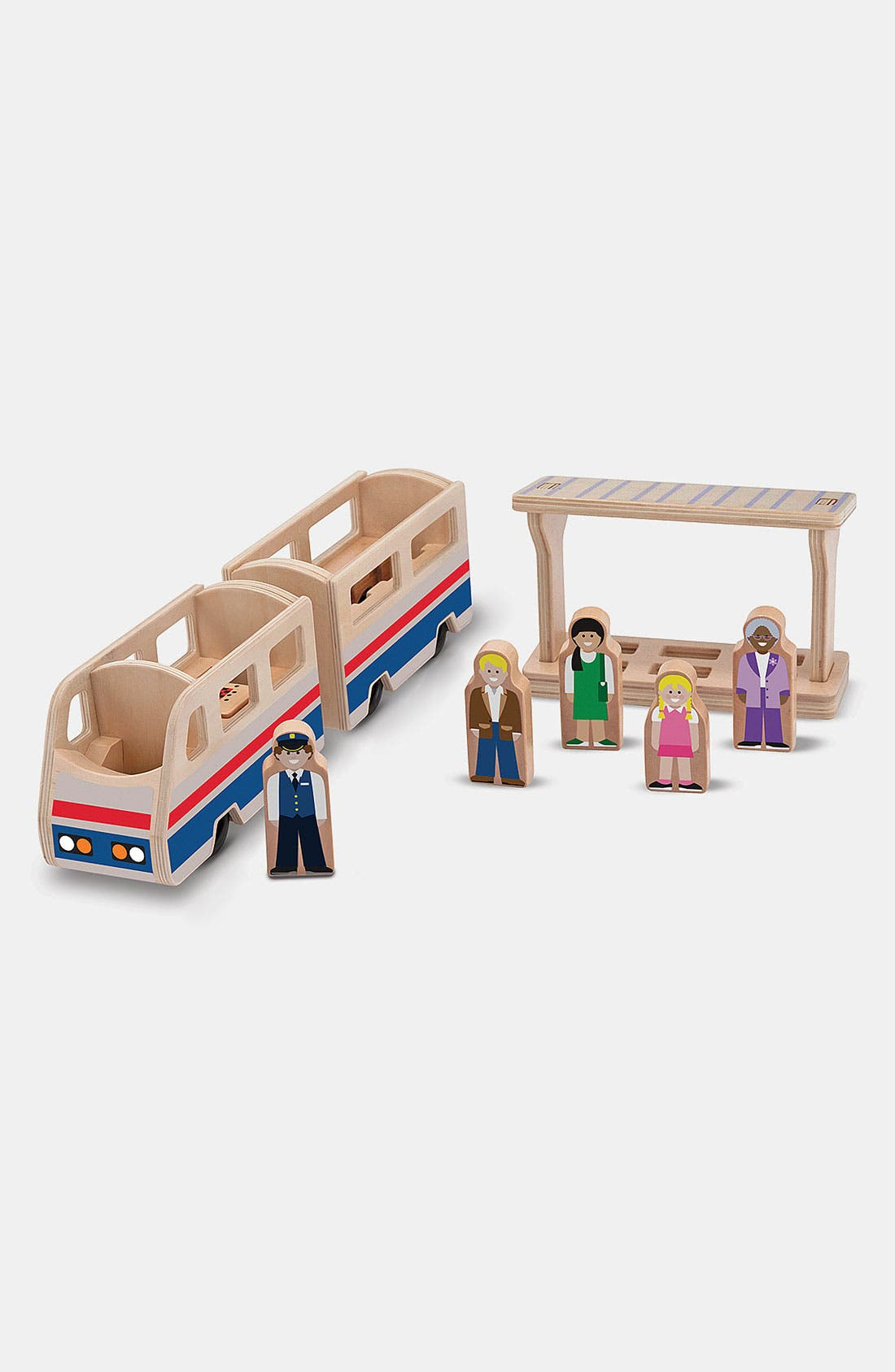 Alternate Image 1 Selected - Melissa & Doug 'Whittle World' Wooden Train & Platform Toy