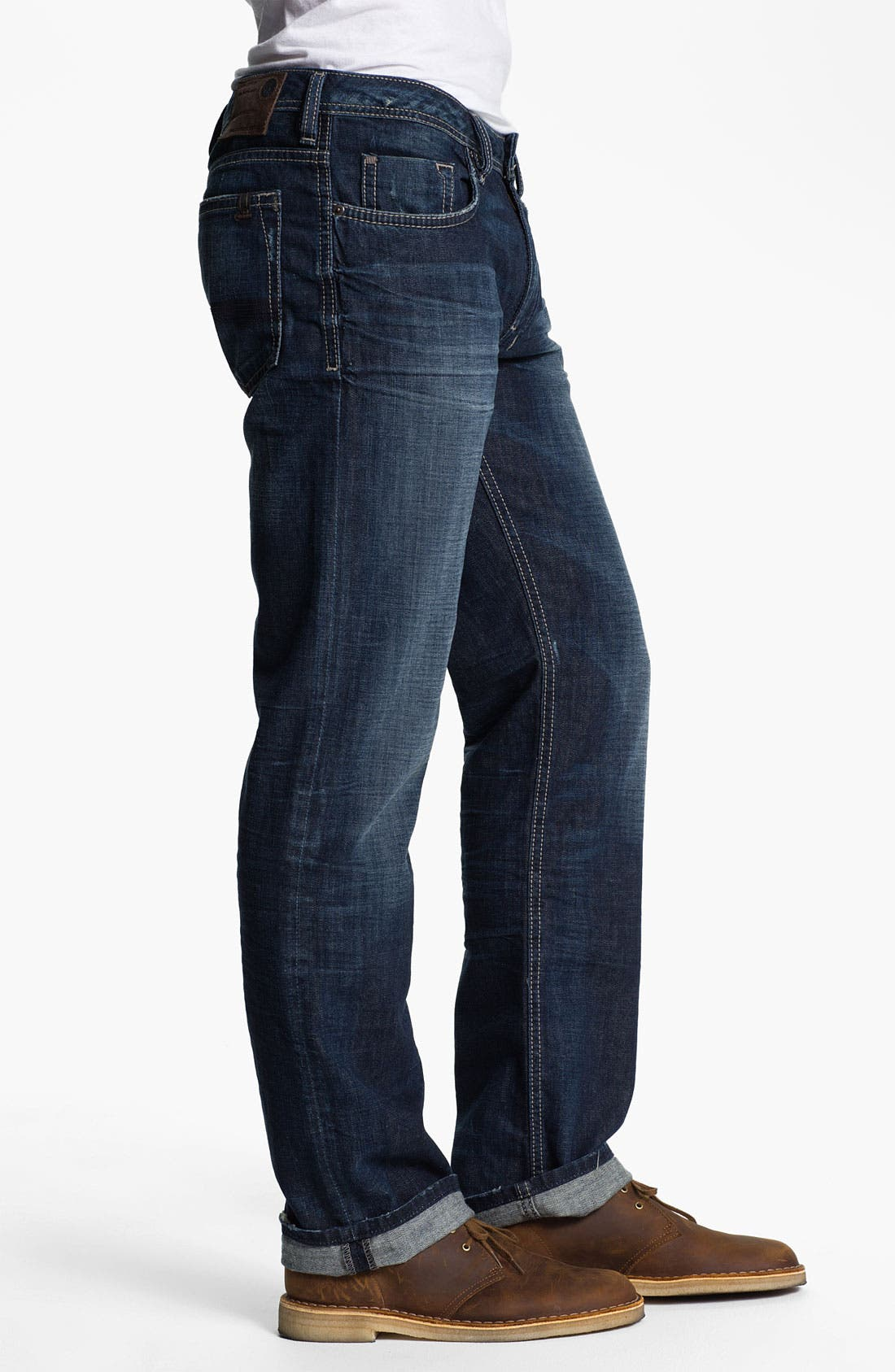 Alternate Image 3  - Buffalo Jeans 'Driven' Straight Leg Jeans (Slightly Sandblasted)