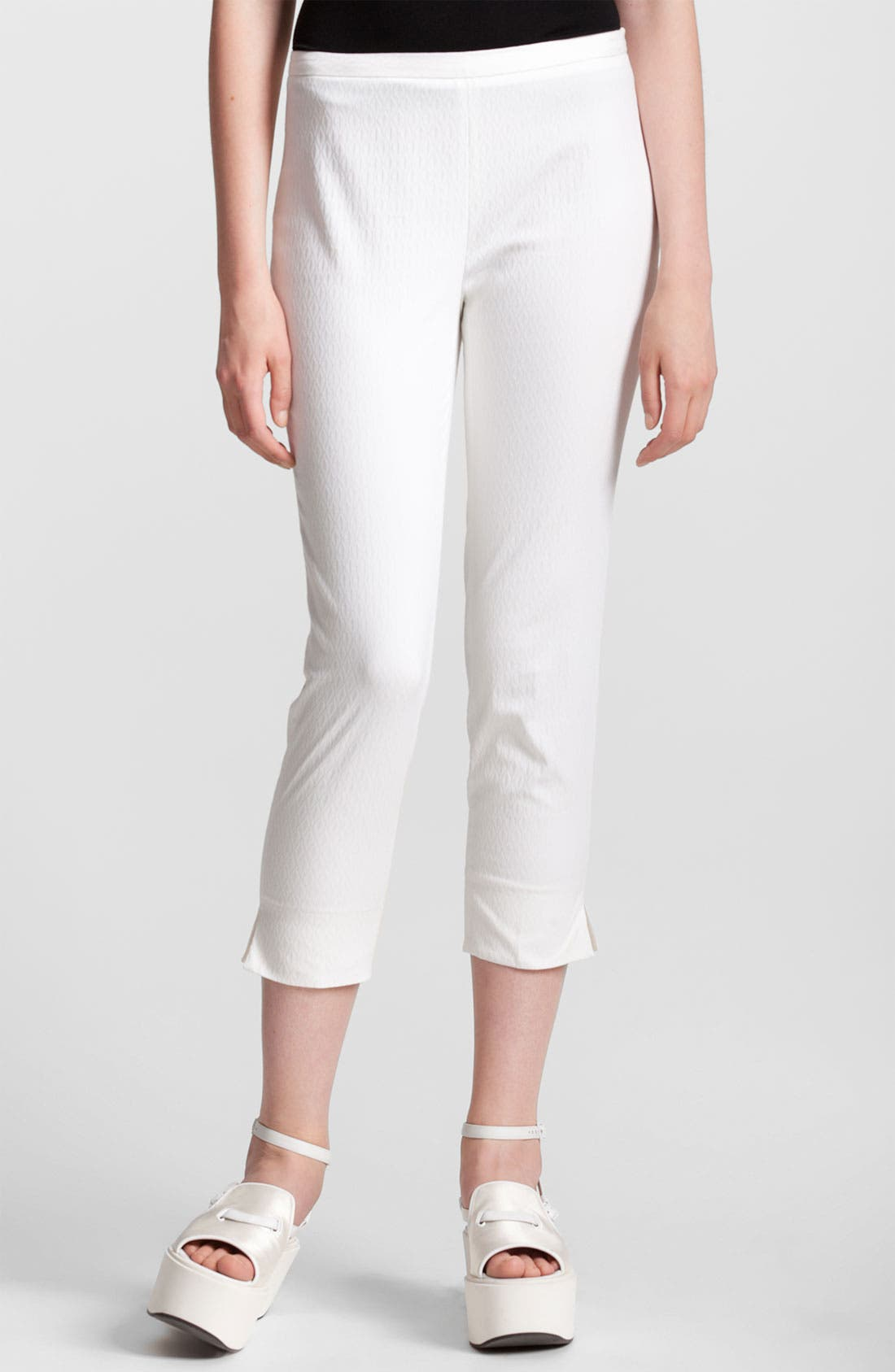 Alternate Image 1 Selected - Jil Sander Navy Skinny Stretch Jacquard Crop Pants