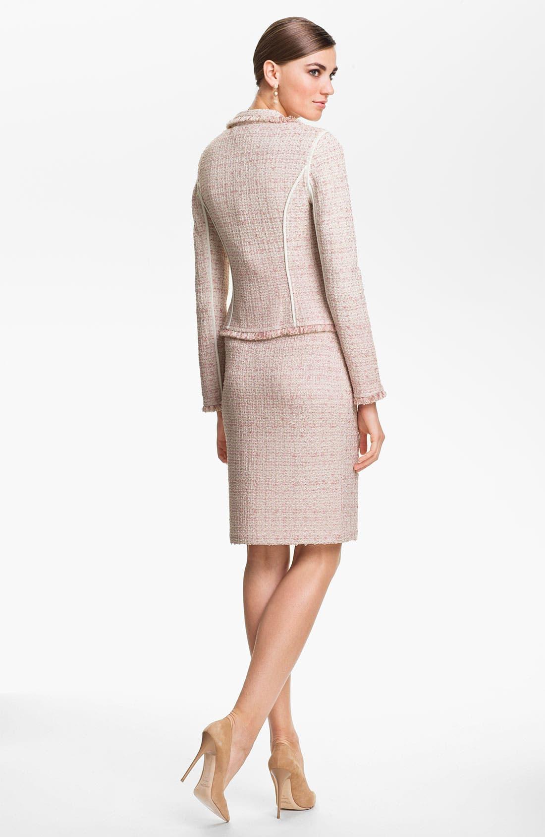 Alternate Image 4  - St. John Collection Eyelash Shimmer Tweed Pencil Skirt
