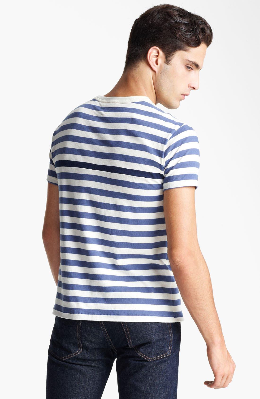 Alternate Image 2  - rag & bone Stripe Print T-Shirt