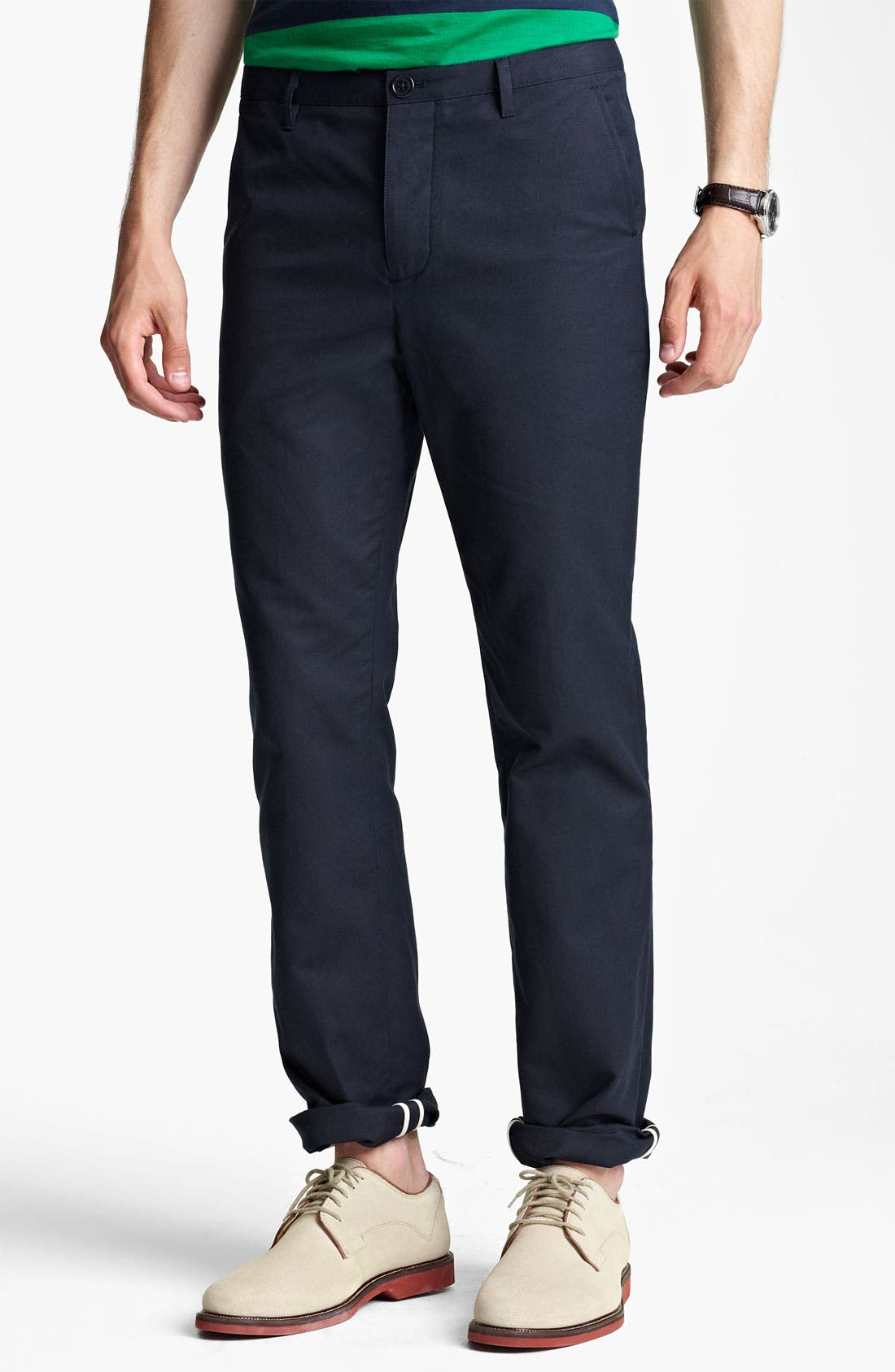 Alternate Image 1 Selected - Shipley & Halmos Slim Fit Cotton Pants