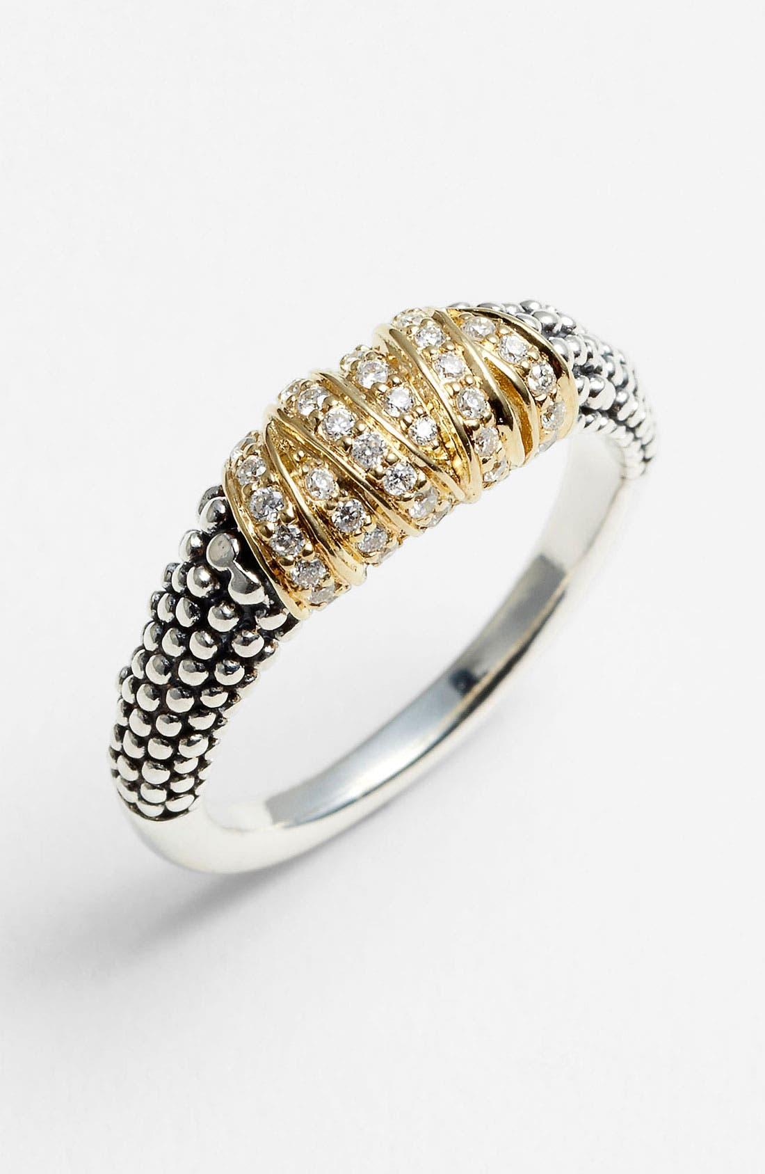 Main Image - Lagos 'Embrace' Diamond & Caviar™ Ring
