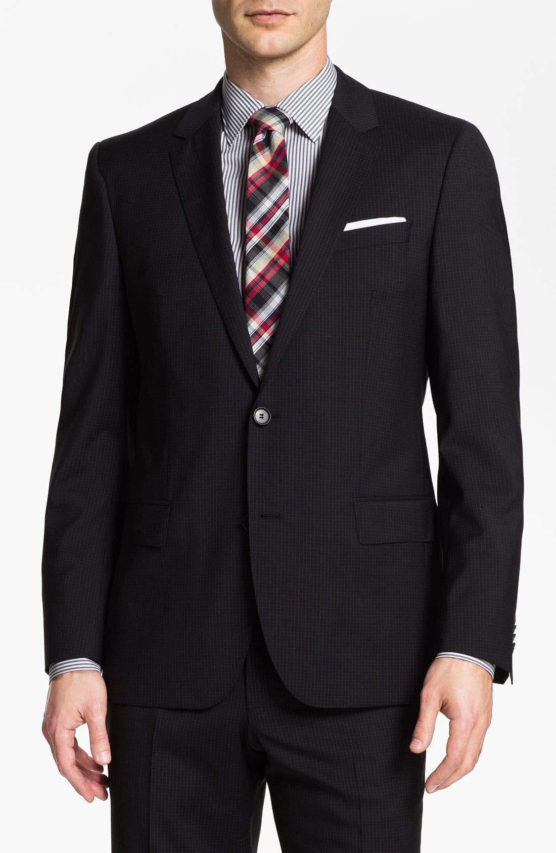 Alternate Image 1 Selected - BOSS Black 'Huge/Genius' Trim Fit Suit