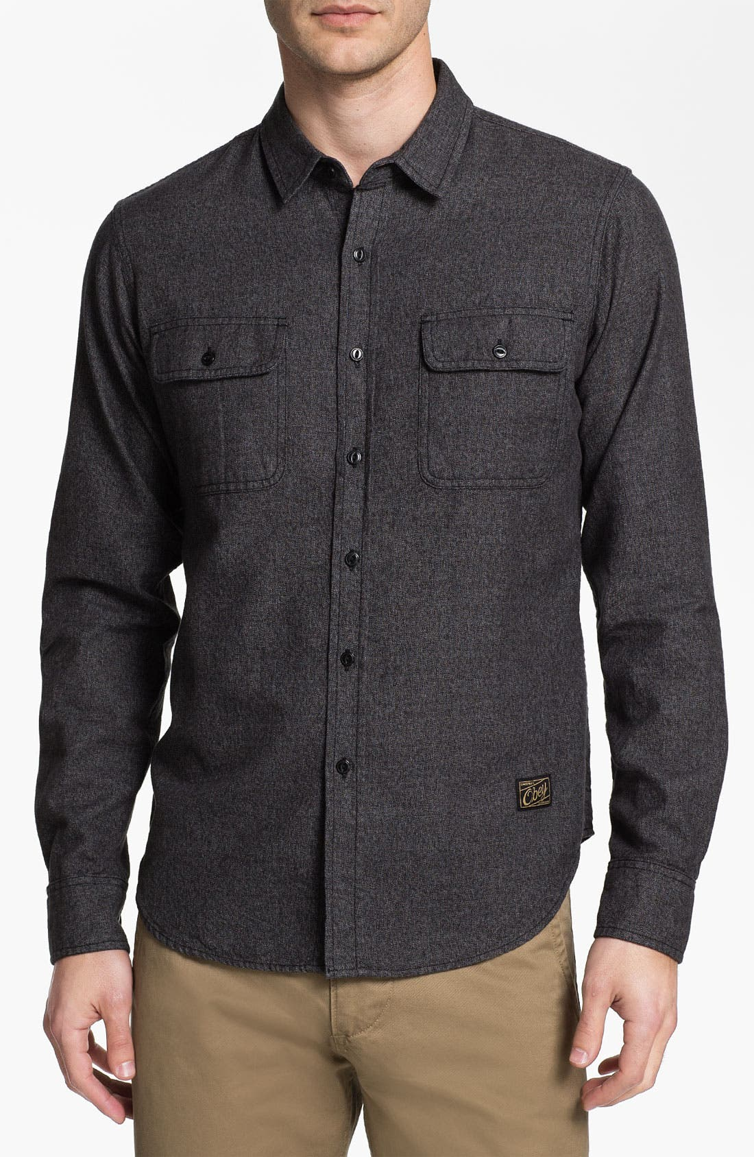 Alternate Image 1 Selected - Obey 'Cameron' Trim Fit Woven Shirt