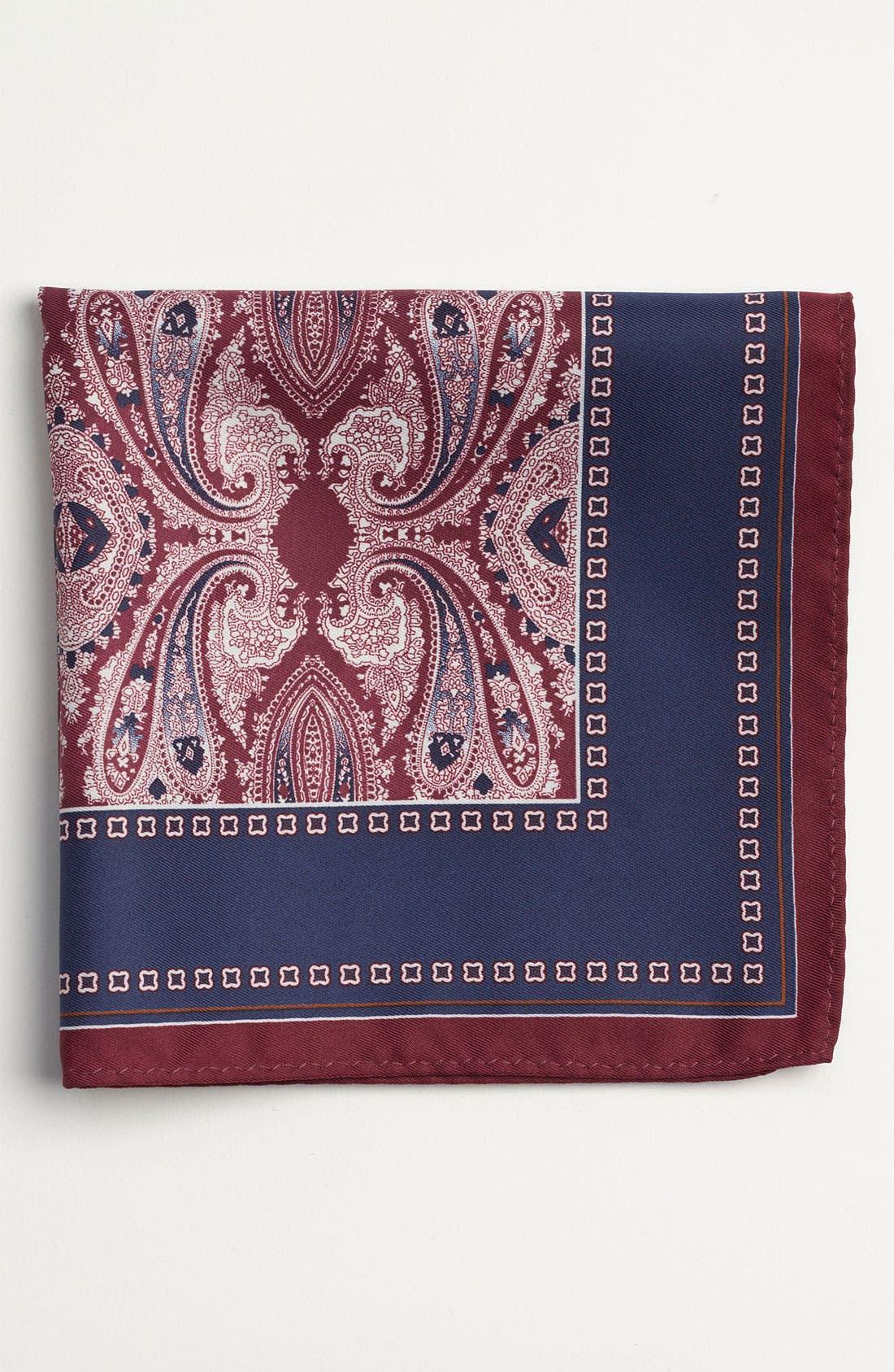 Main Image - Topman Paisley Print Pocket Square