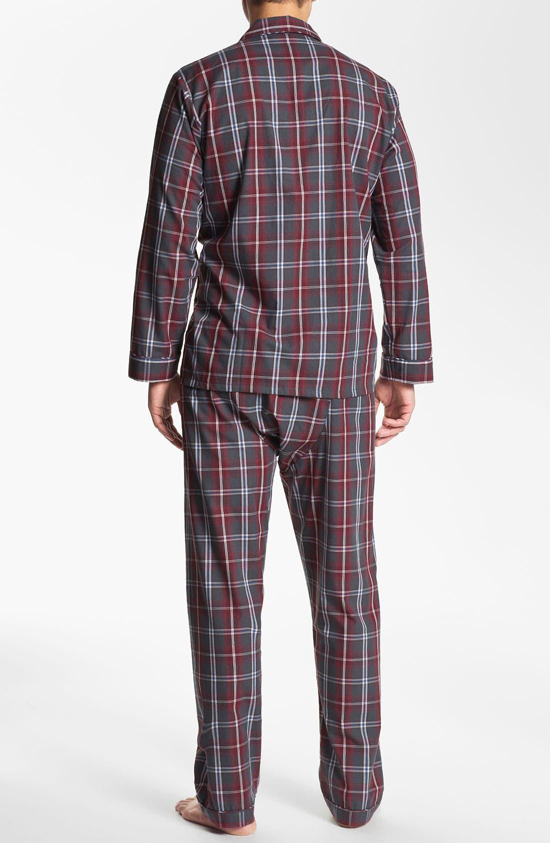 Alternate Image 2  - Majestic Plaid Easy Care Pajama Set (Big & Tall)