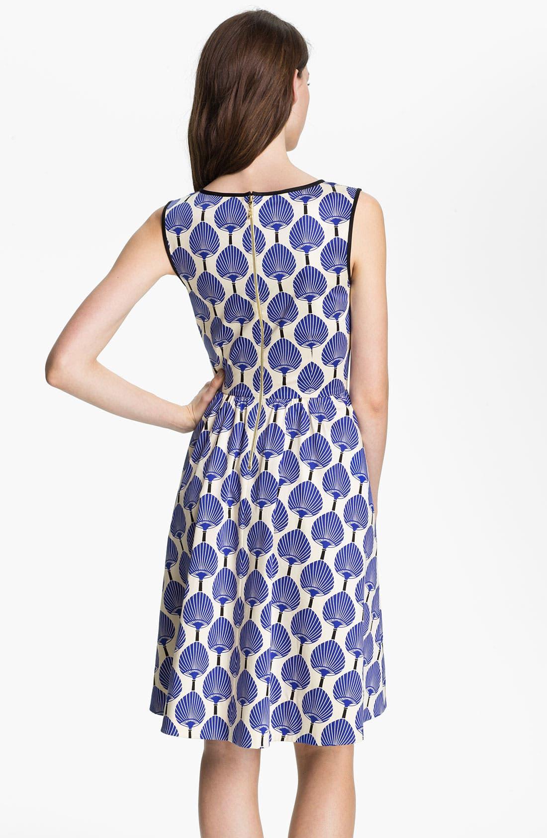 Alternate Image 2  - kate spade new york 'matty' stretch cotton fit & flare dress