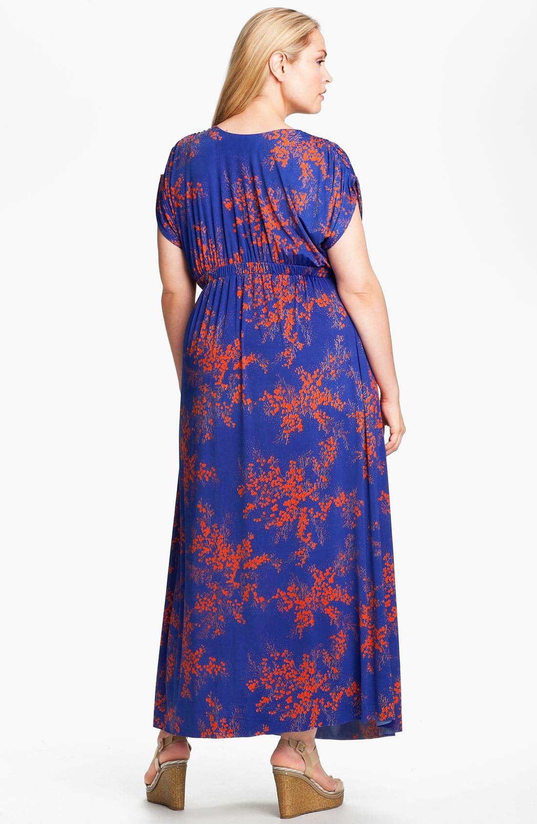 Alternate Image 2  - Tbags Los Angeles Surplice Knit Maxi Dress (Plus)