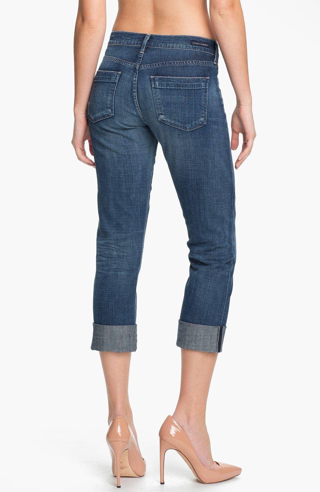 Alternate Image 2  - Citizens of Humanity 'Dani' Crop Straight Leg Jeans (Wedgewood)