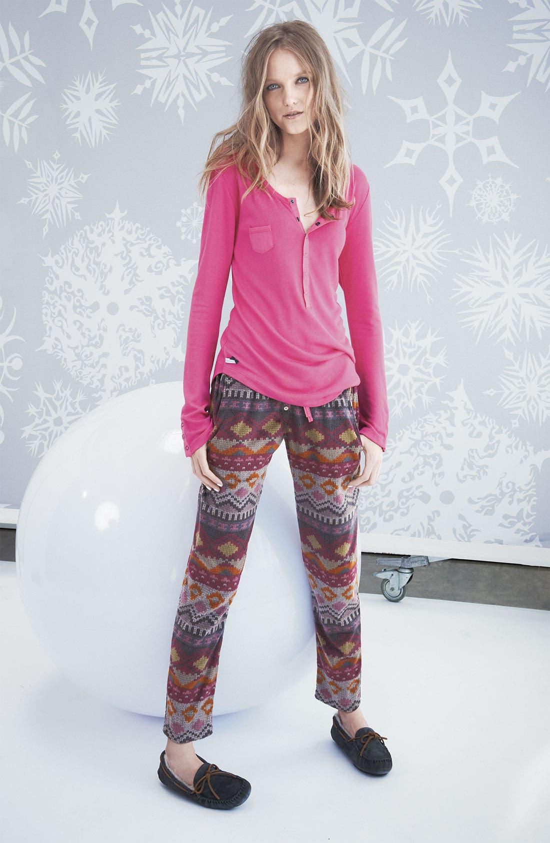 Alternate Image 2  - Kensie Henley Fleece Pajamas