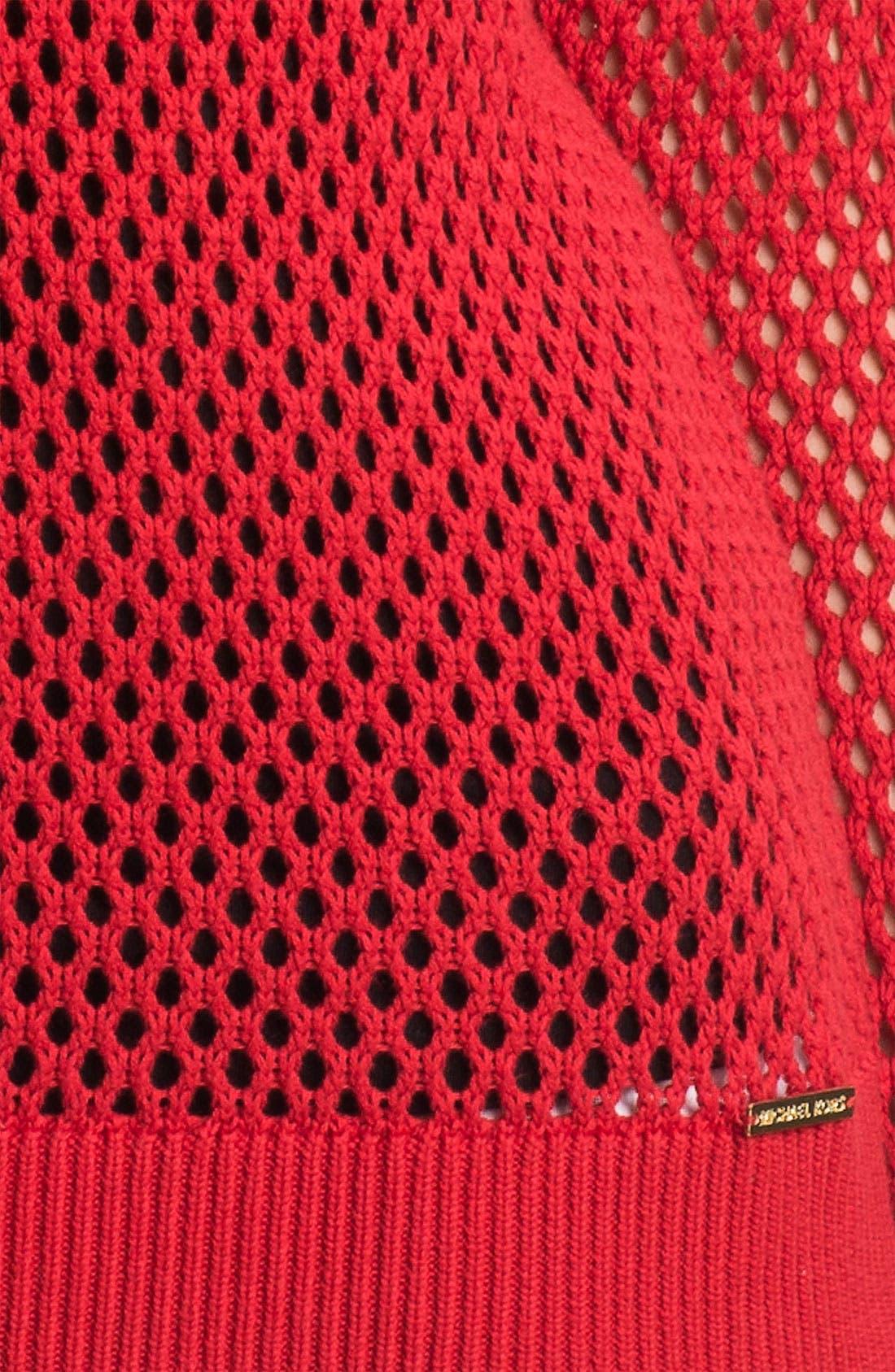 Alternate Image 3  - MICHAEL Michael Kors Crewneck Mesh Sweater