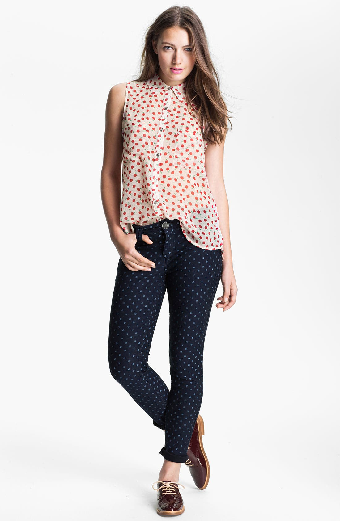 Alternate Image 4  - MOD.lusive Sleeveless Polka Dot Blouse