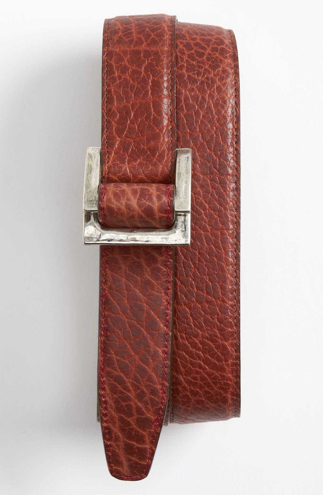 Alternate Image 1 Selected - Trafalgar 'Walsh' Bison Leather Belt