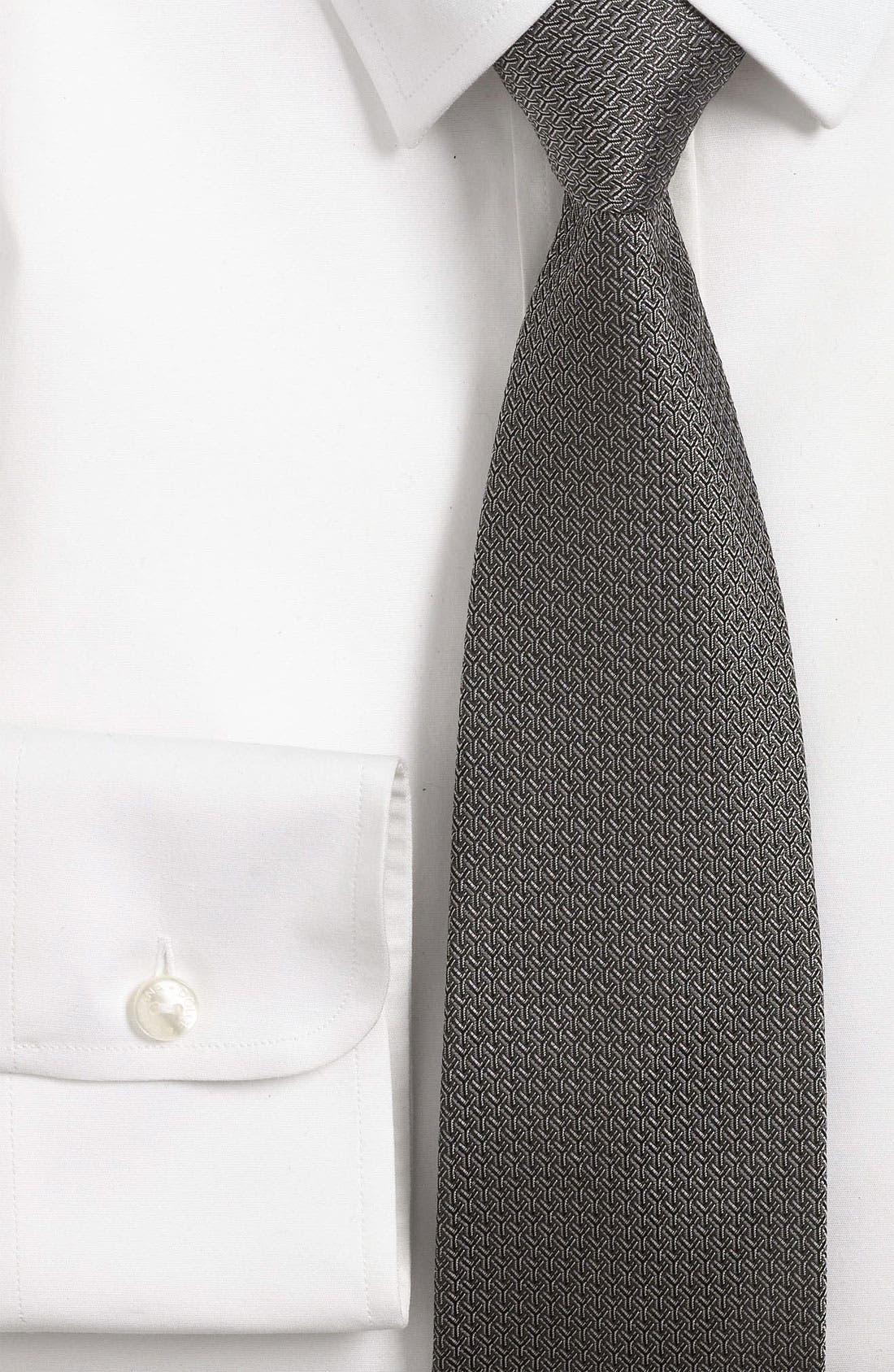 Alternate Image 2  - Yves Saint Laurent Y Pattern Woven Silk Tie