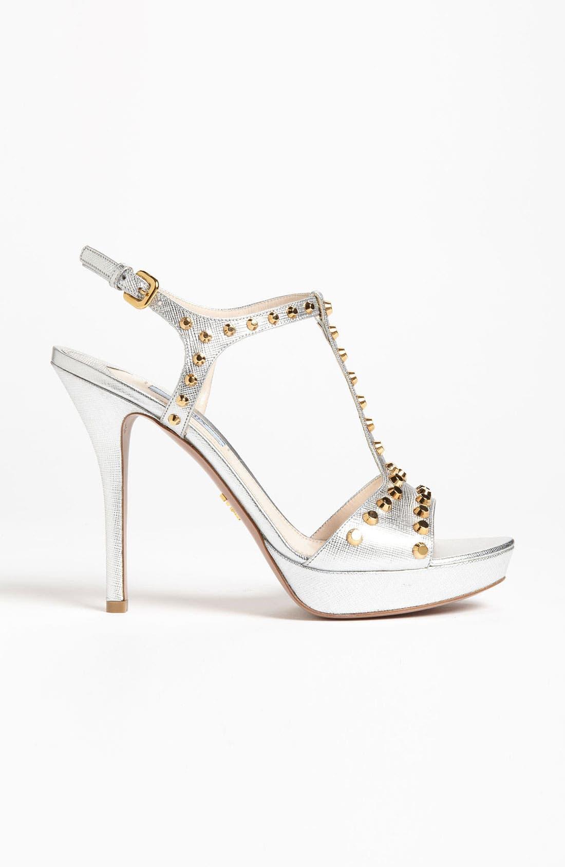 Alternate Image 4  - Prada Studded T-Strap Sandal