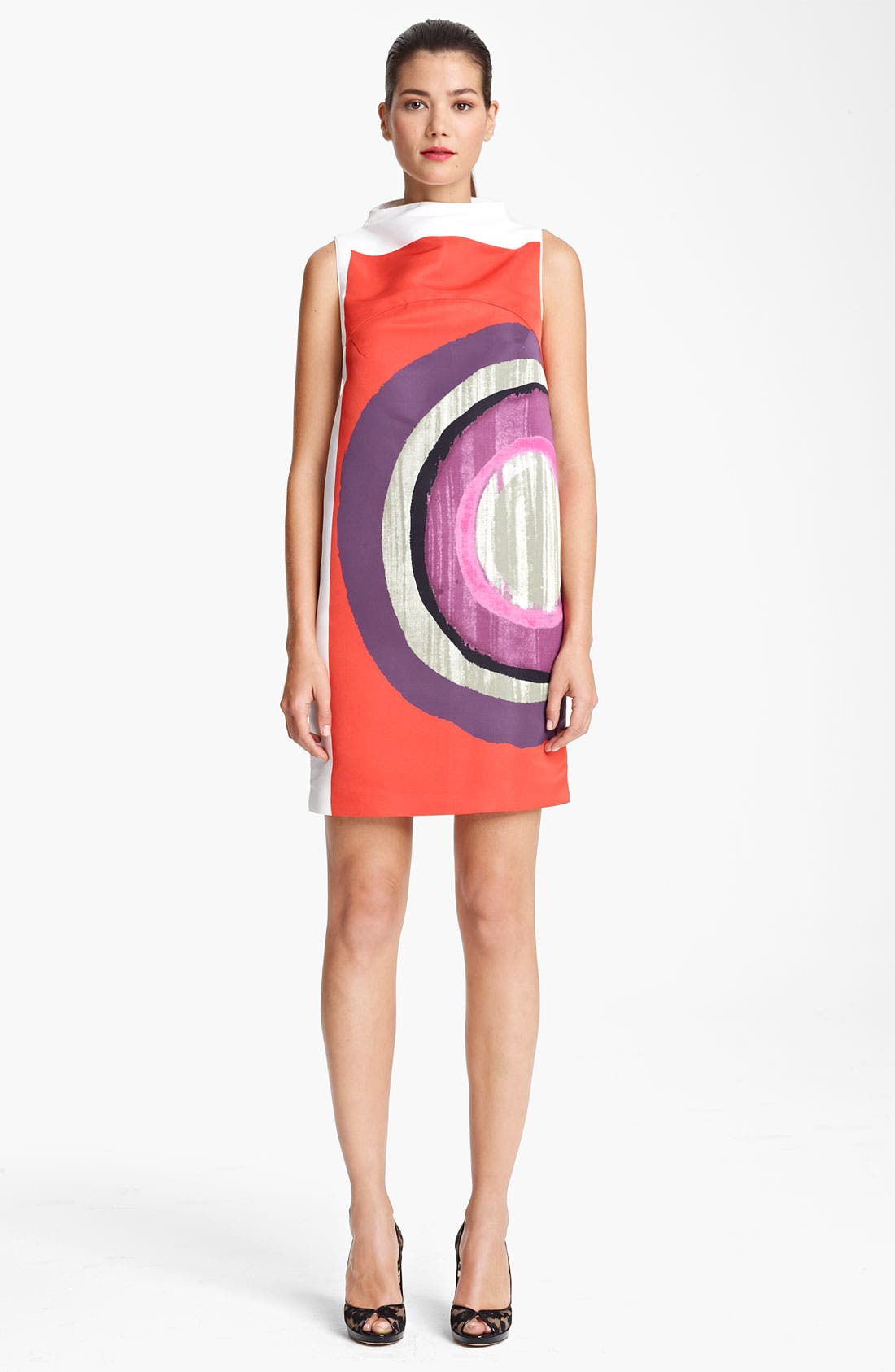 Alternate Image 1 Selected - Piazza Sempione Circle Print Stretch Cotton Dress
