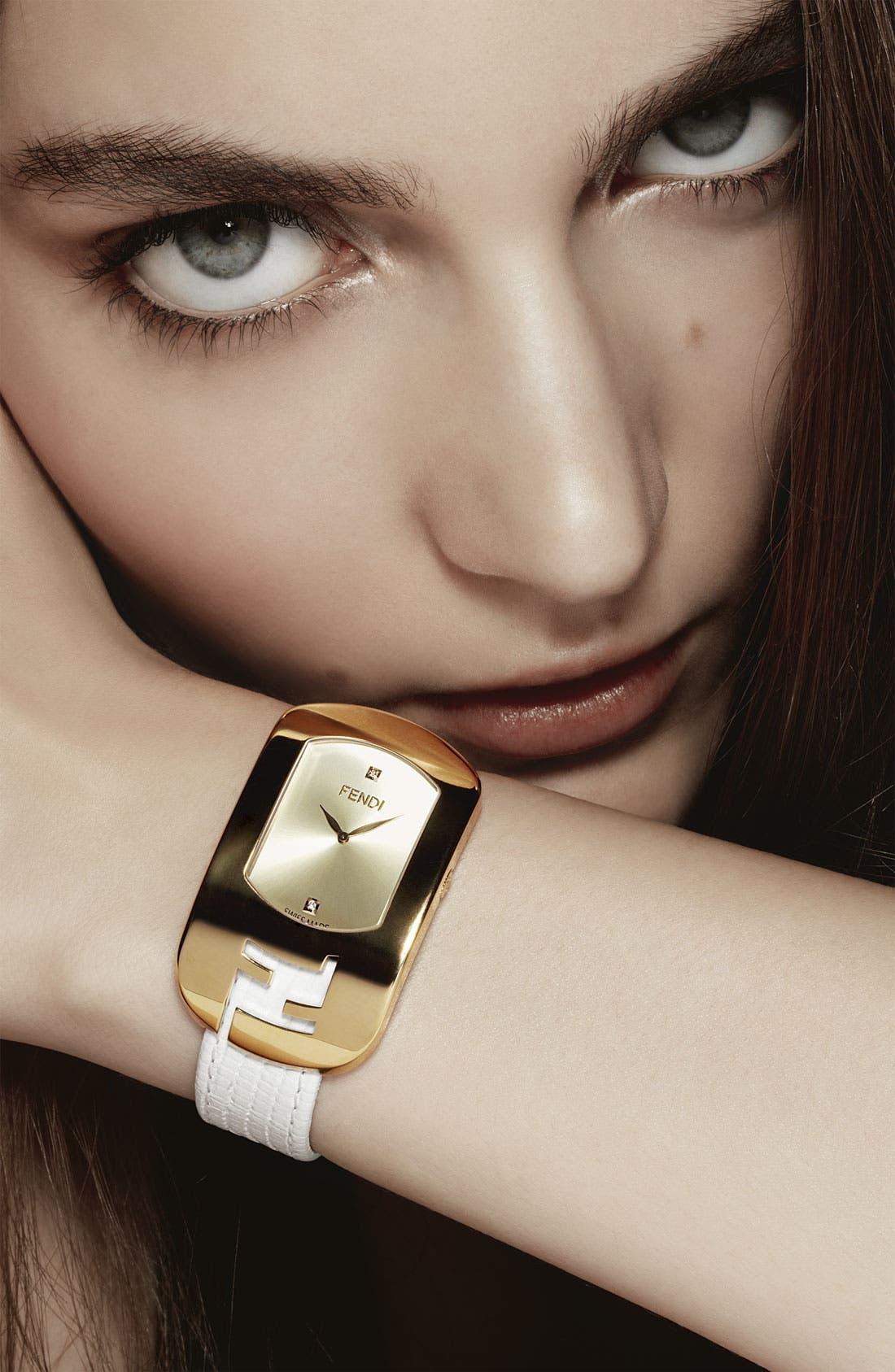 Alternate Image 2  - Fendi 'Large Chameleon' Leather Strap Watch, 29mm x 49mm (Nordstrom Exclusive)